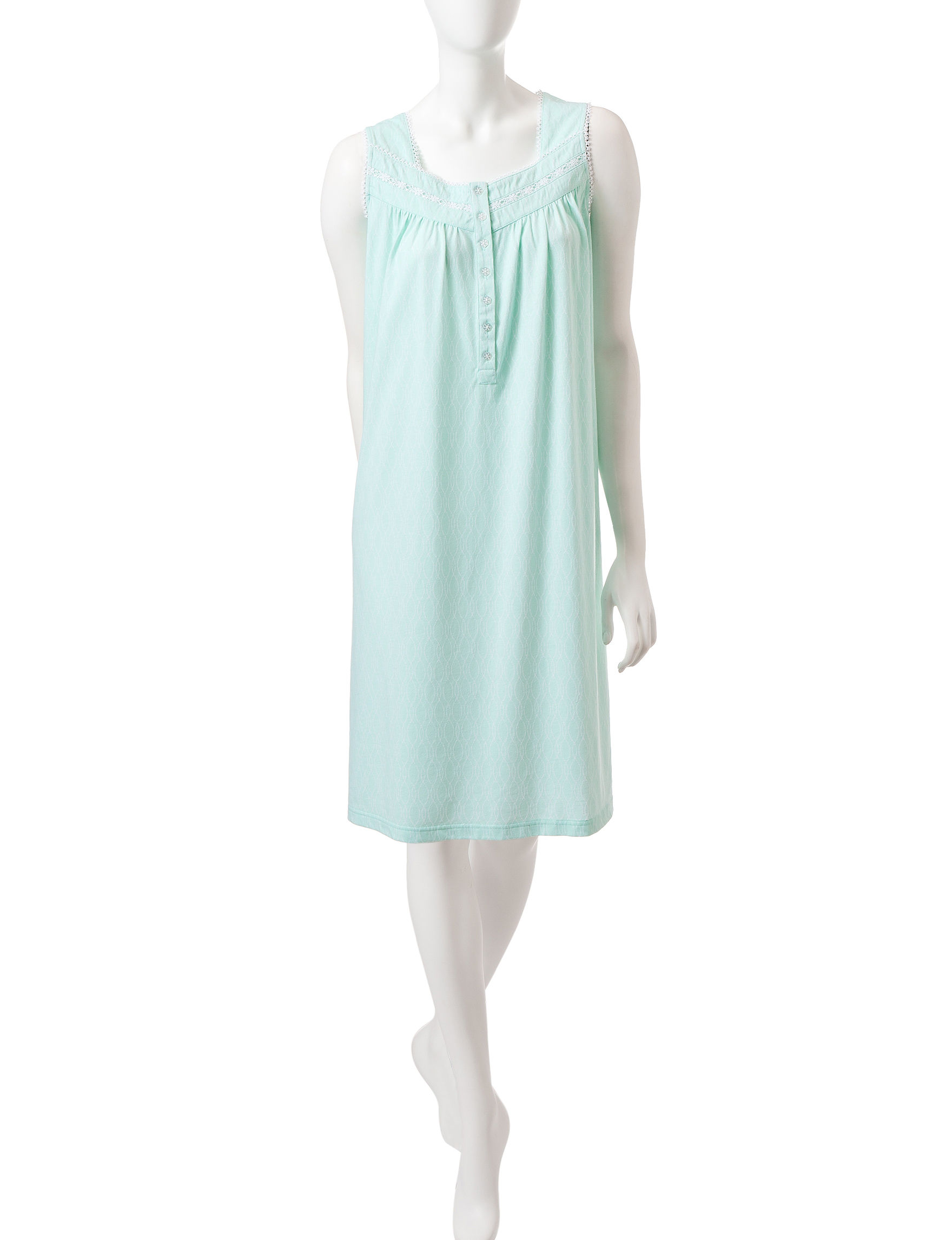 Jasmine Rose Mint Nightgowns & Sleep Shirts