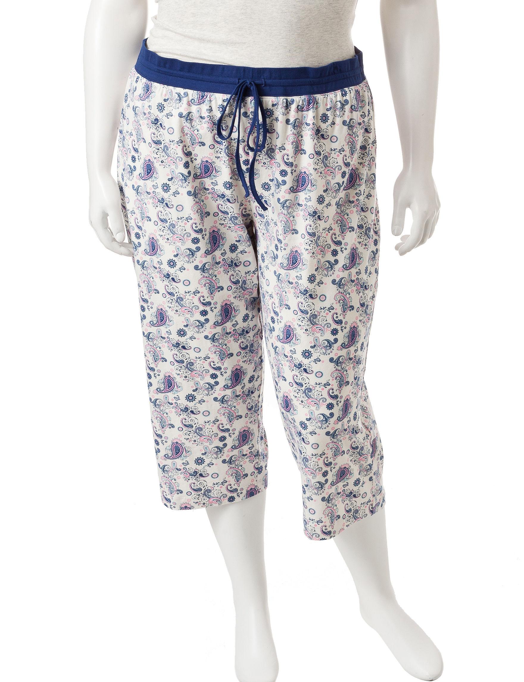 Rene Rofe Blue / White Pajama Bottoms