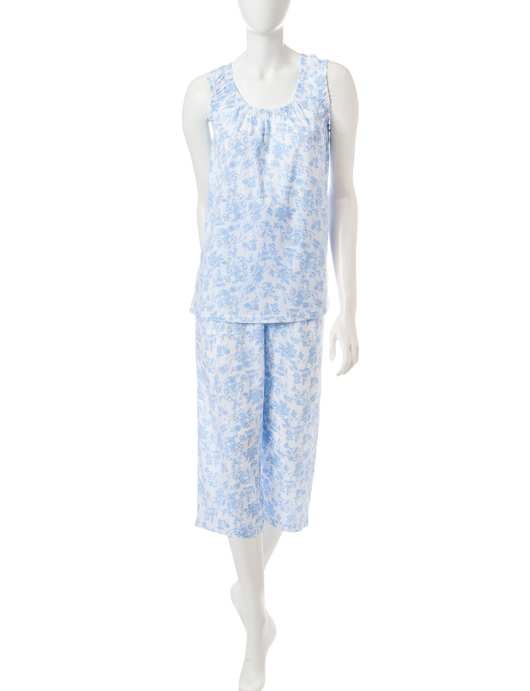White Orchid Blue Multi Pajama Sets