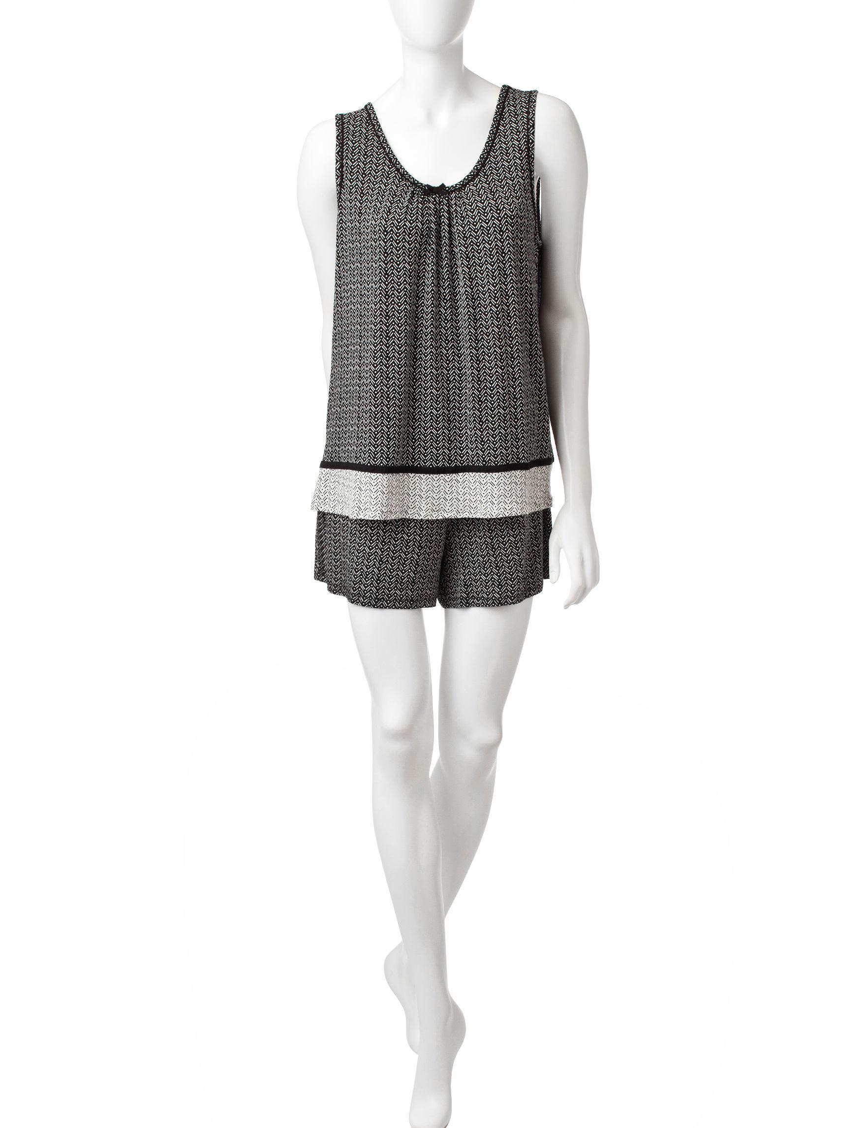 Ellen Tracy Black / White Pajama Sets