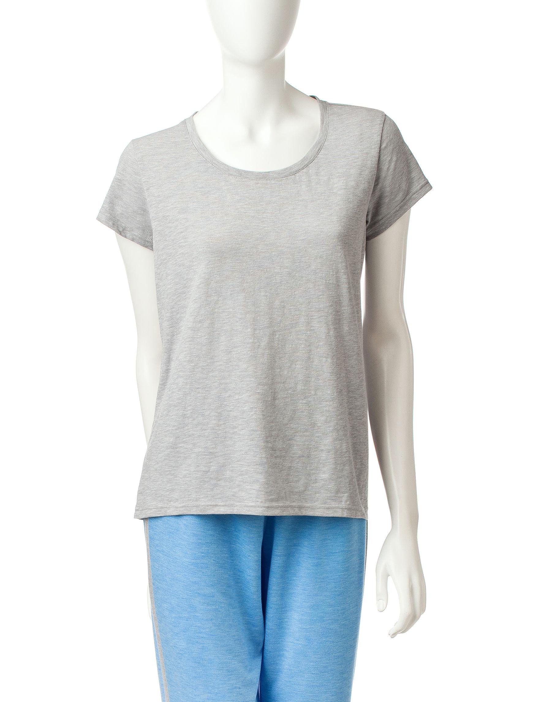Goodnight Kiss Grey Pajama Tops