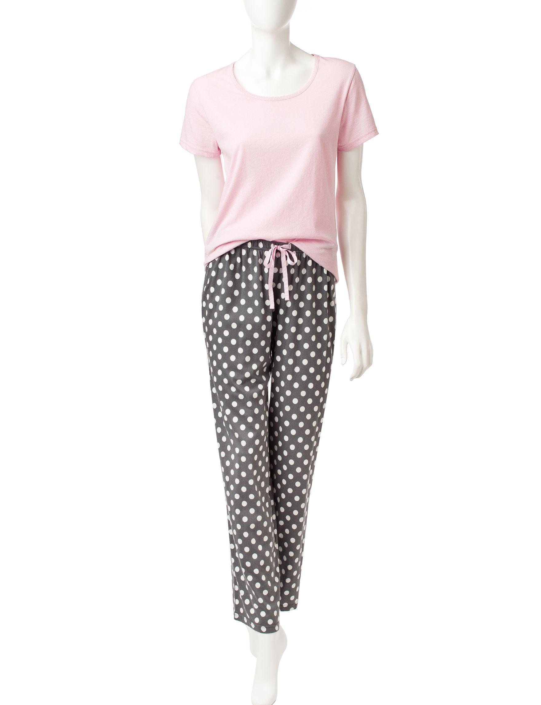 Hanes Medium Pink Pajama Sets