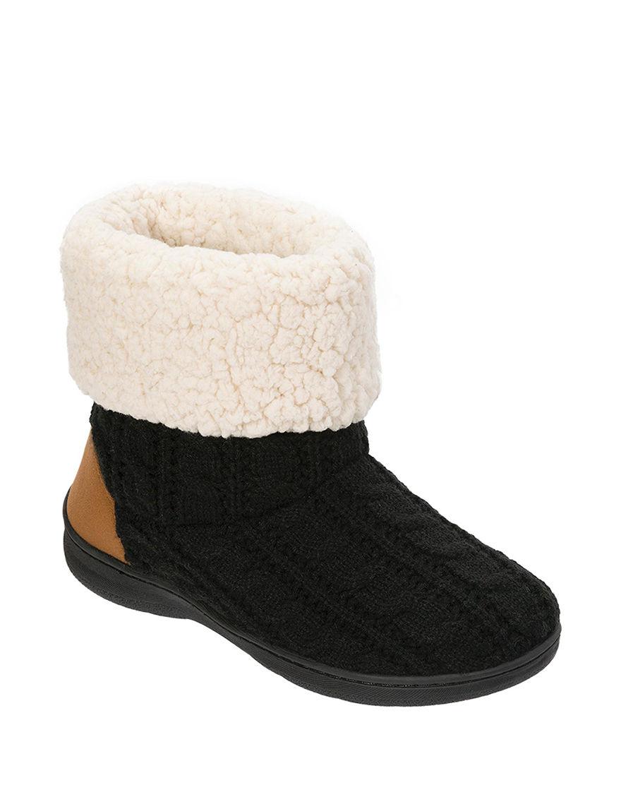 Dearfoams Black Ankle Boots & Booties