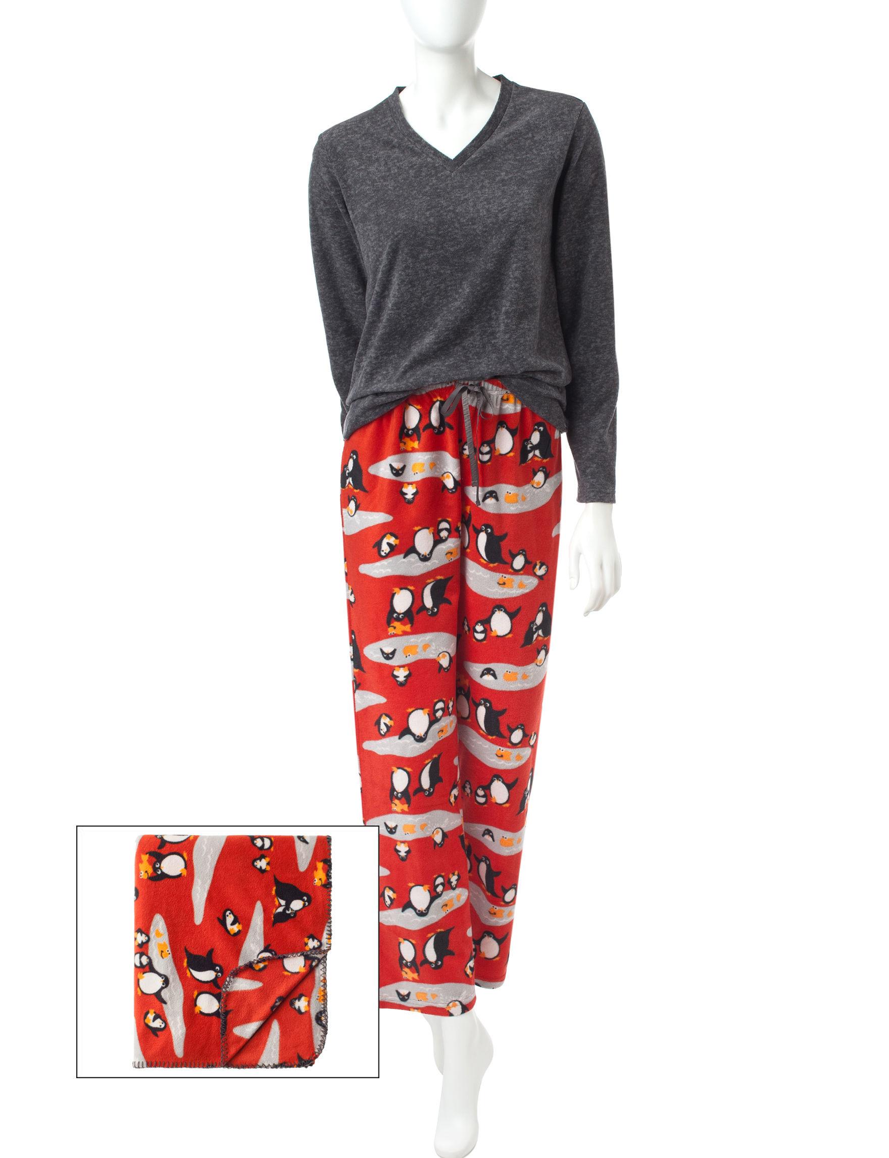 Wishful Park Heather Grey Pajama Sets