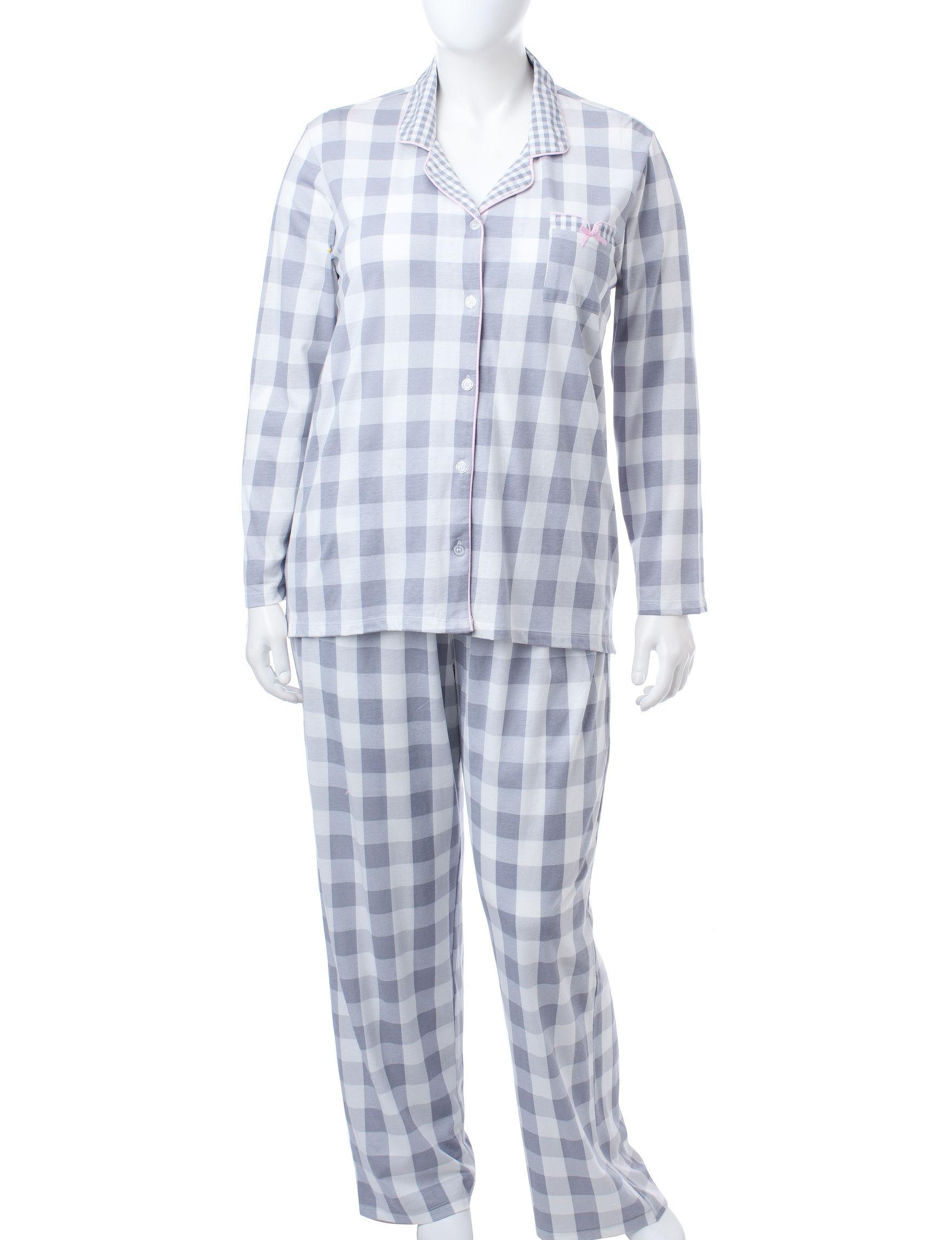Laura Ashley Grey Multi Pajama Sets