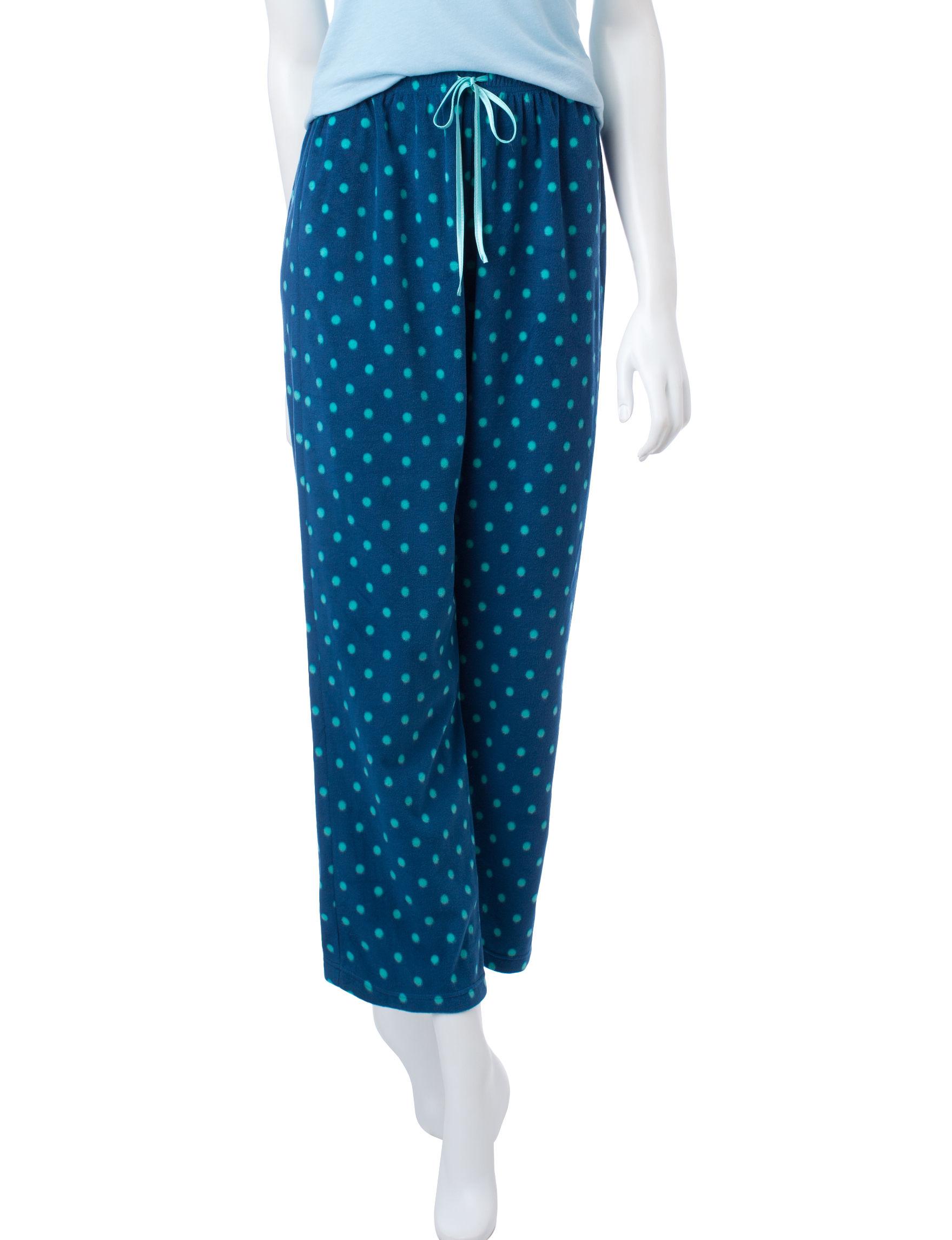 Hannah Teal Pajama Bottoms
