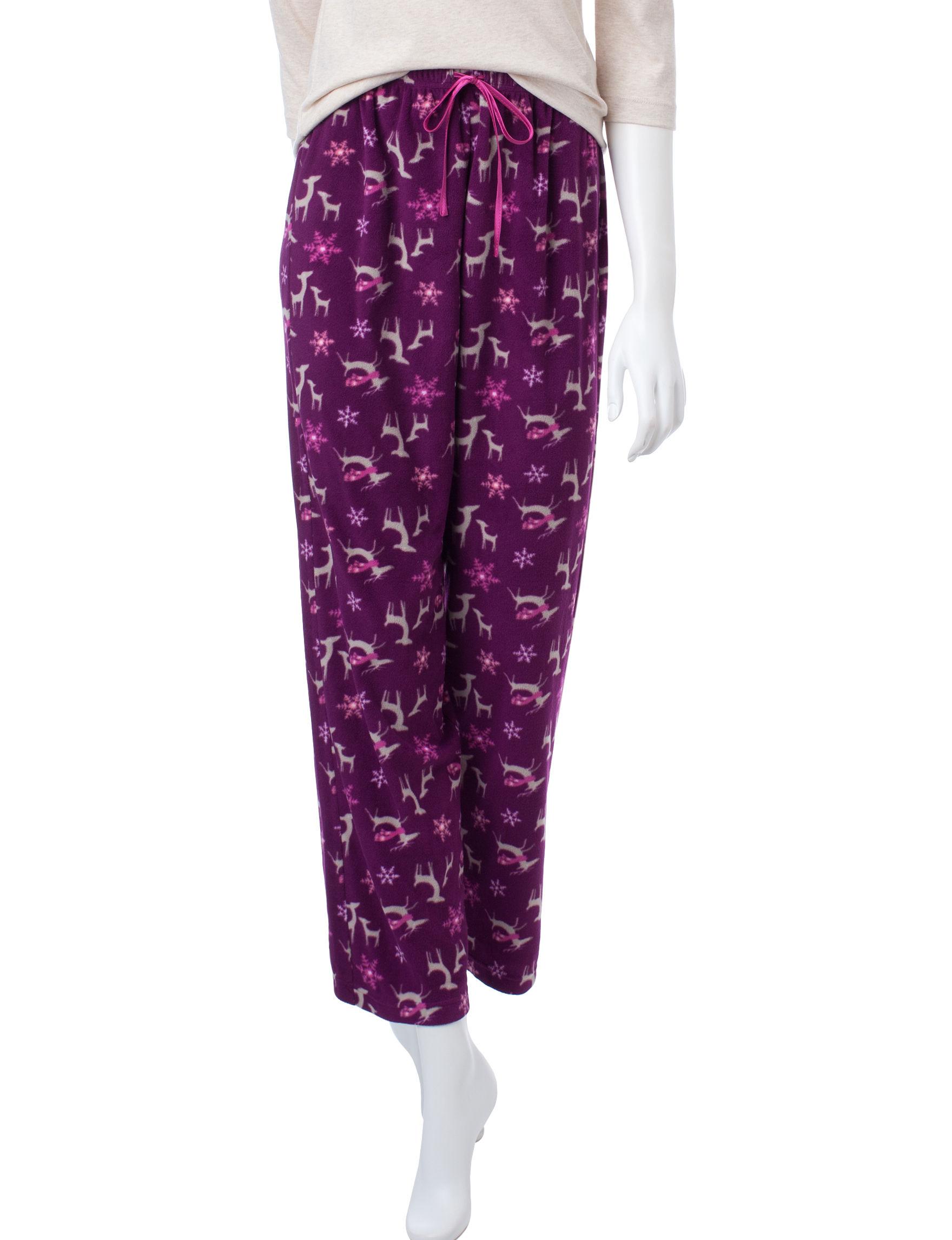 Hannah Purple Pajama Bottoms
