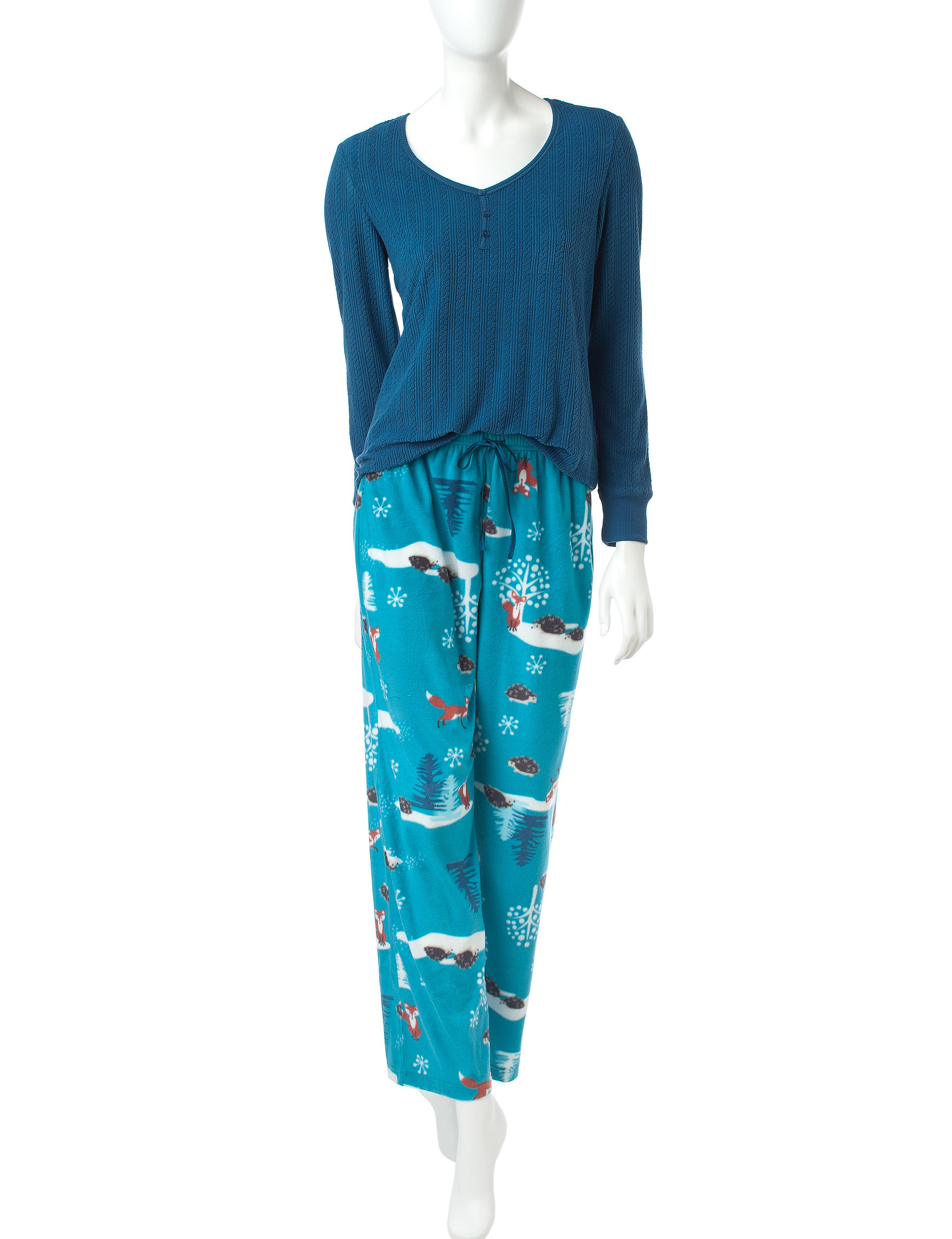 Hannah Peacock Pajama Sets