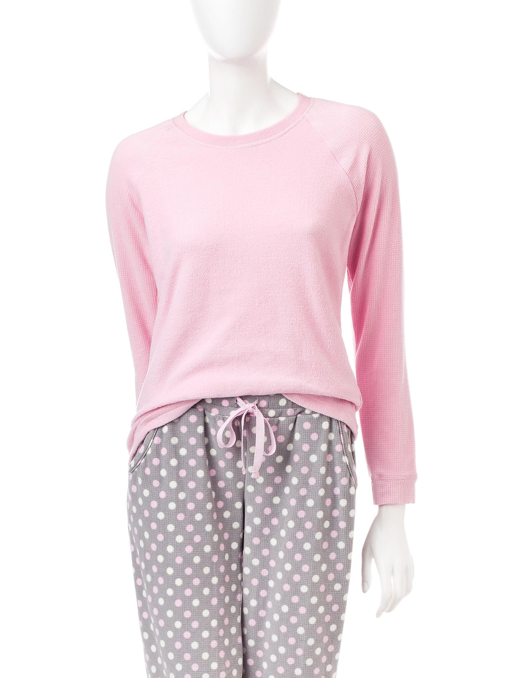 Goodnight Kiss Dark Pink Pajama Tops