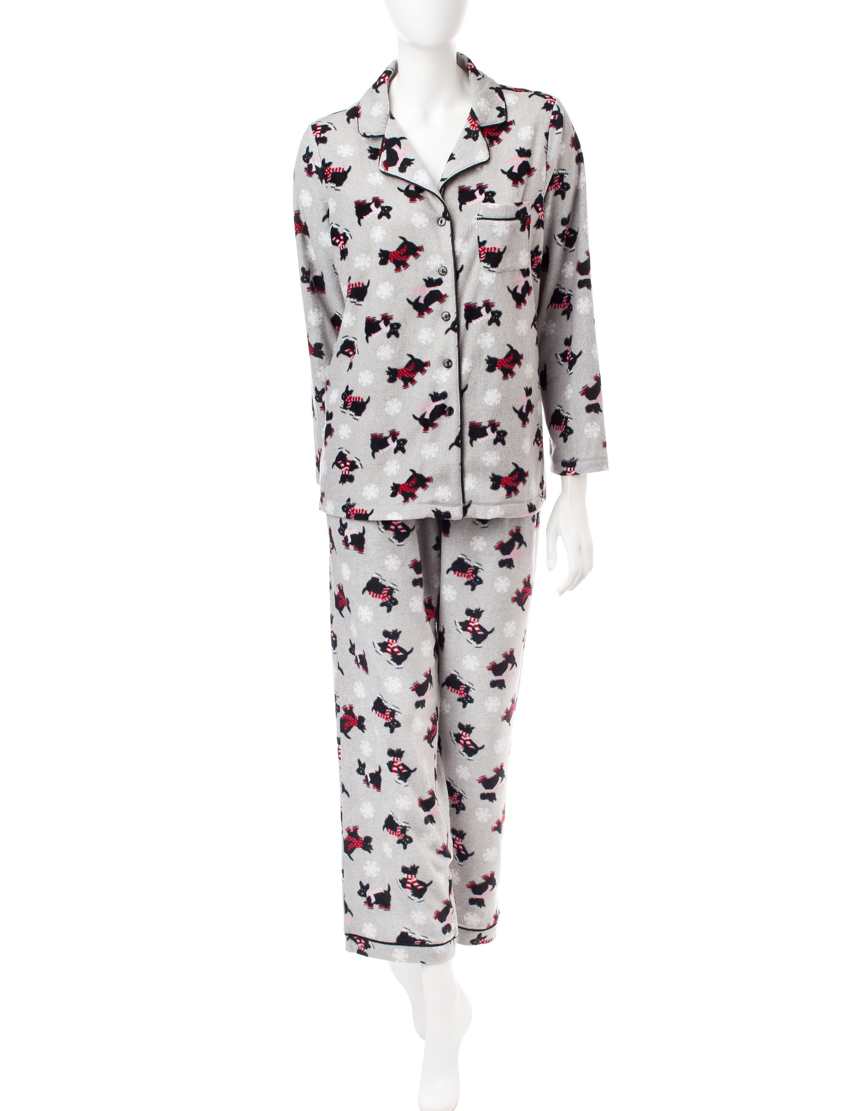 Rene Rofe Red / Black Pajama Sets