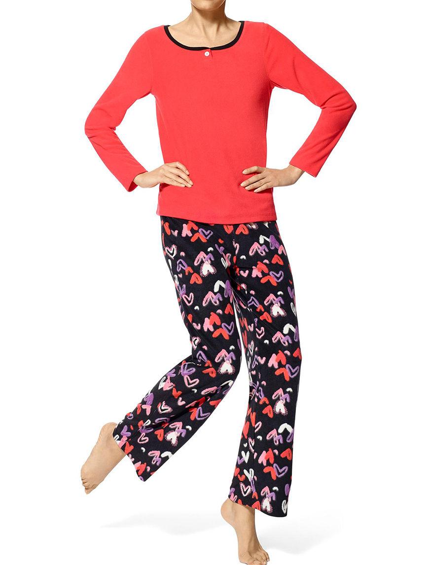 Hue Coral Pajama Sets