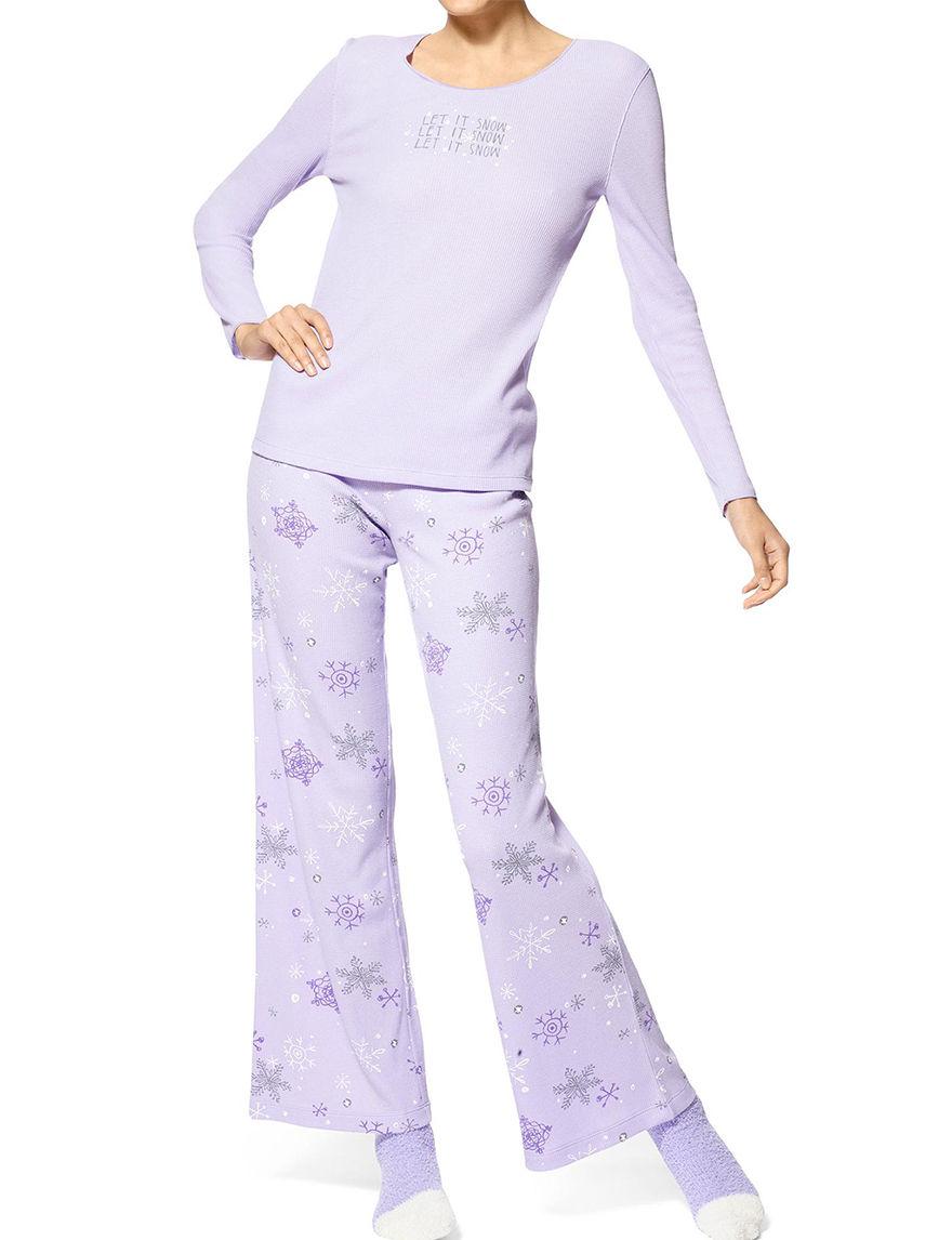 Hue Lavender Pajama Sets