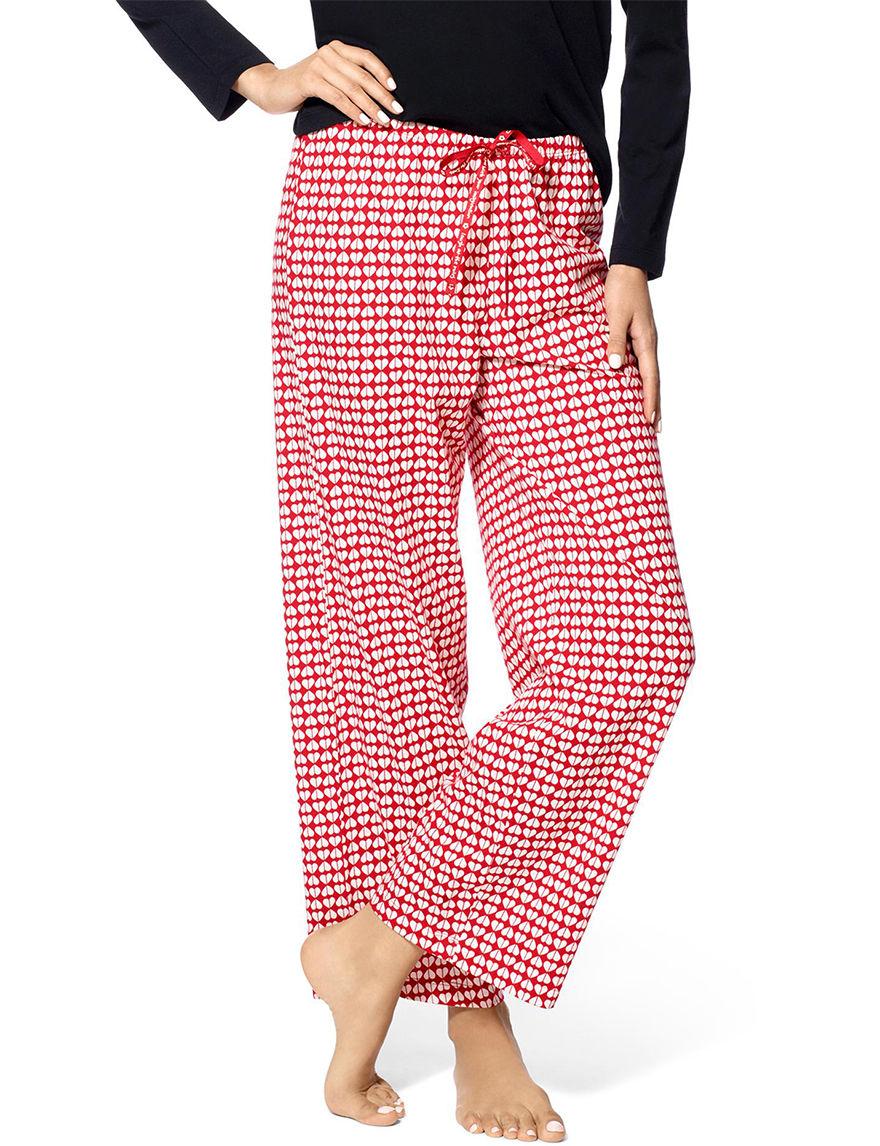 Hue Red Pajama Bottoms