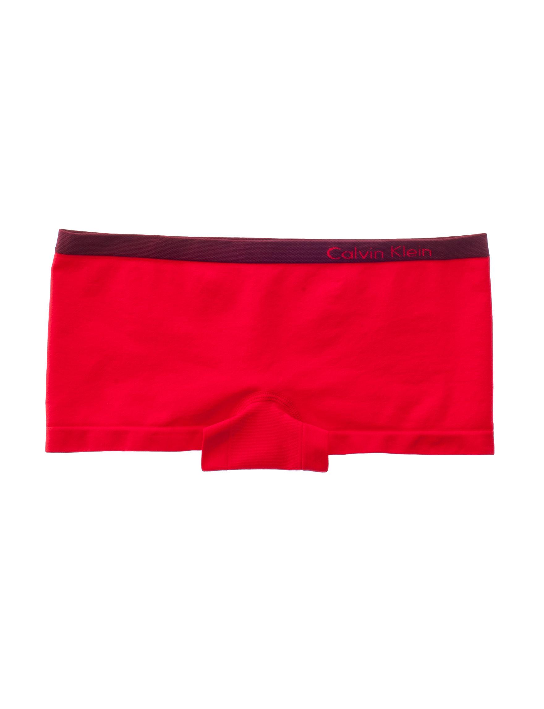 Calvin Klein Red Panties Boyshort Seamless