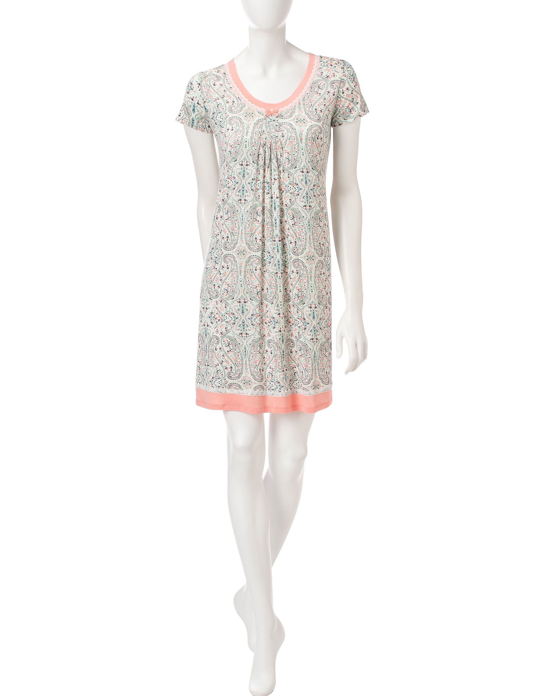 Ellen Tracy Natural Nightgowns & Sleep Shirts