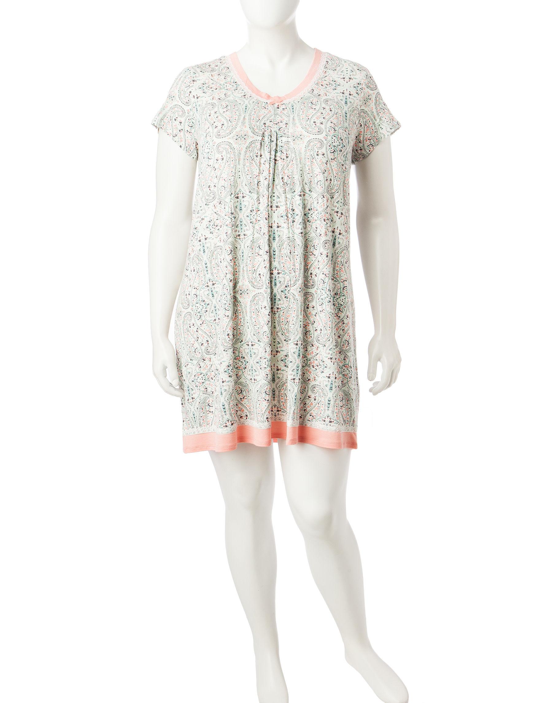 Ellen Tracy Natural Nightgowns & Sleep Shirts