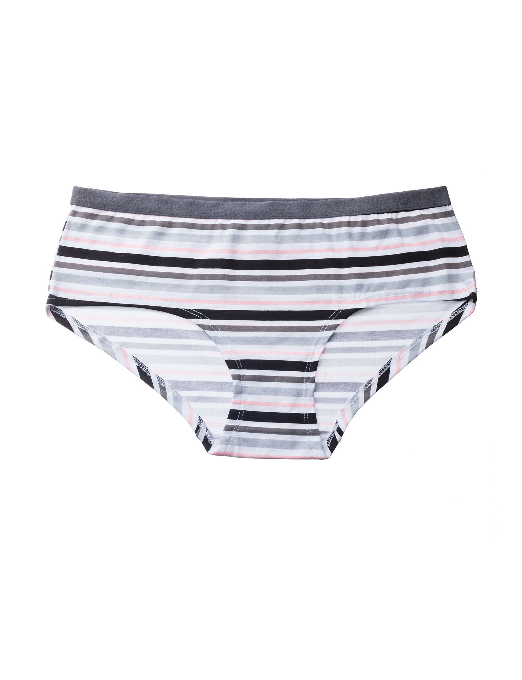 Rene Rofe Grey Stripe Panties Boyshort Seamless