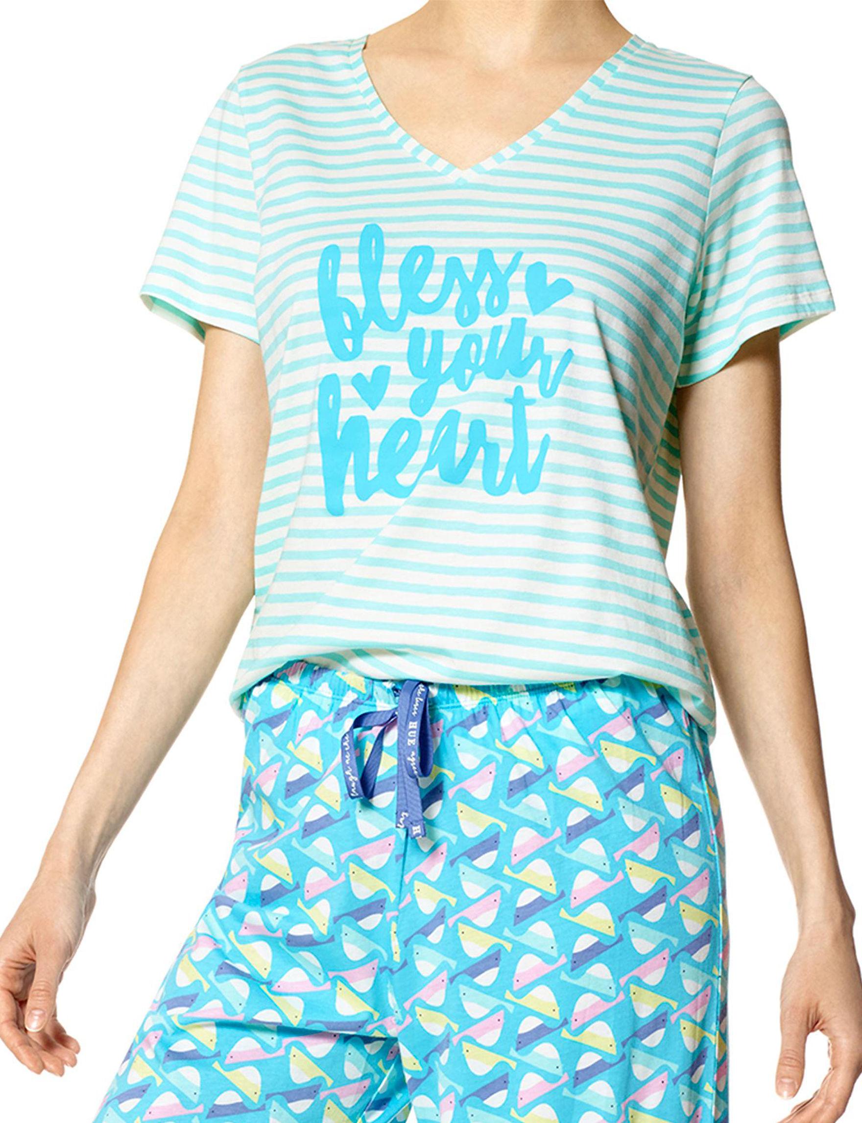 Hue Blue Pajama Tops