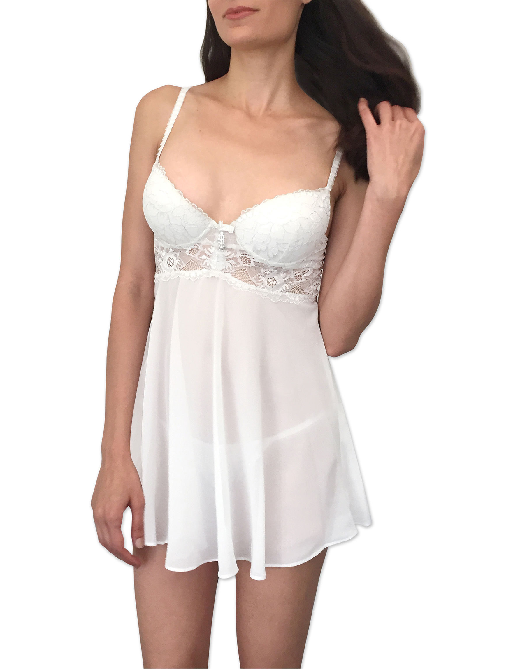 Cinema Etoile Push-Up Babydoll Gown   Stage Stores
