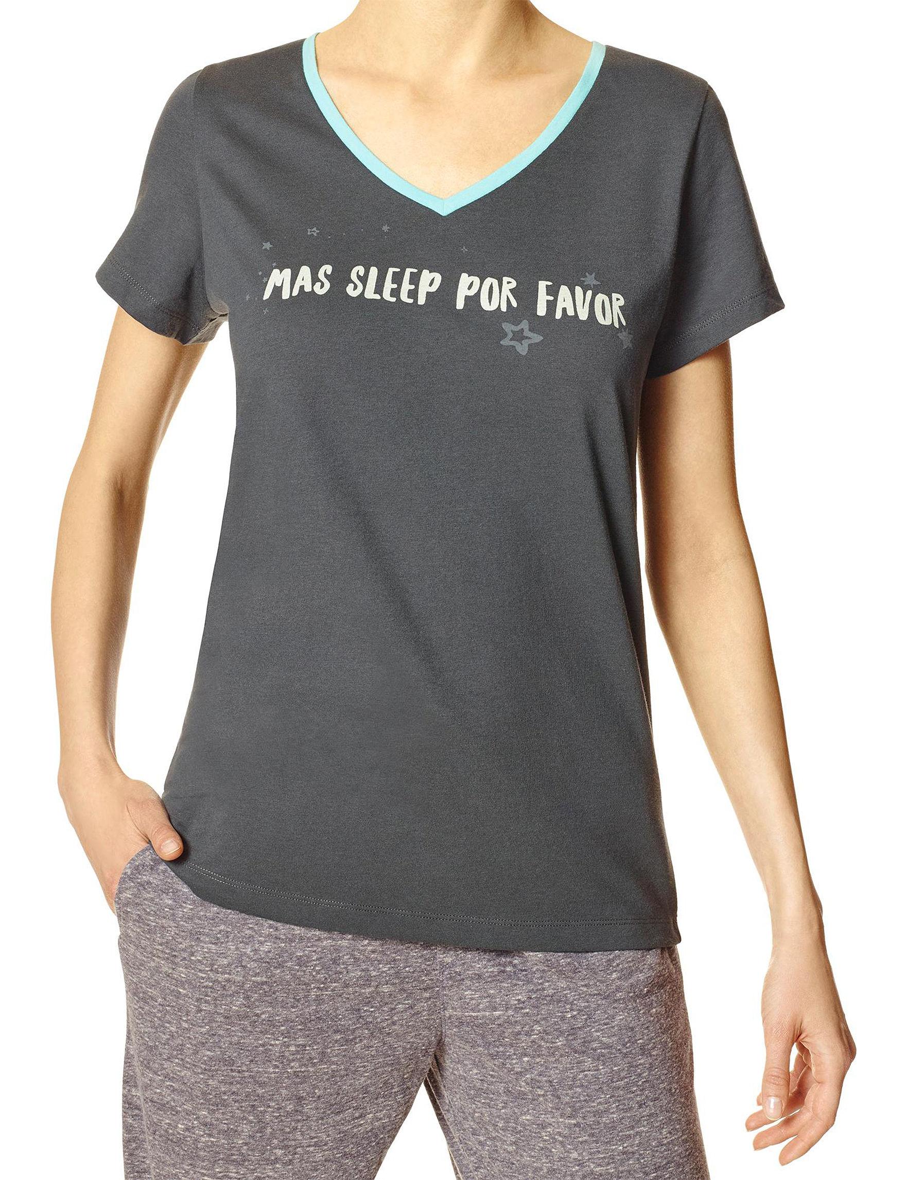 Hue Asphalt Pajama Tops