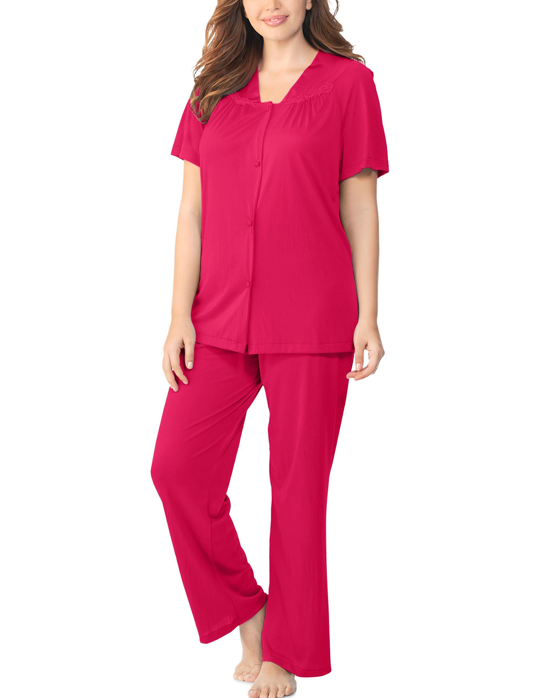 Vanity Fair Red Pajama Sets