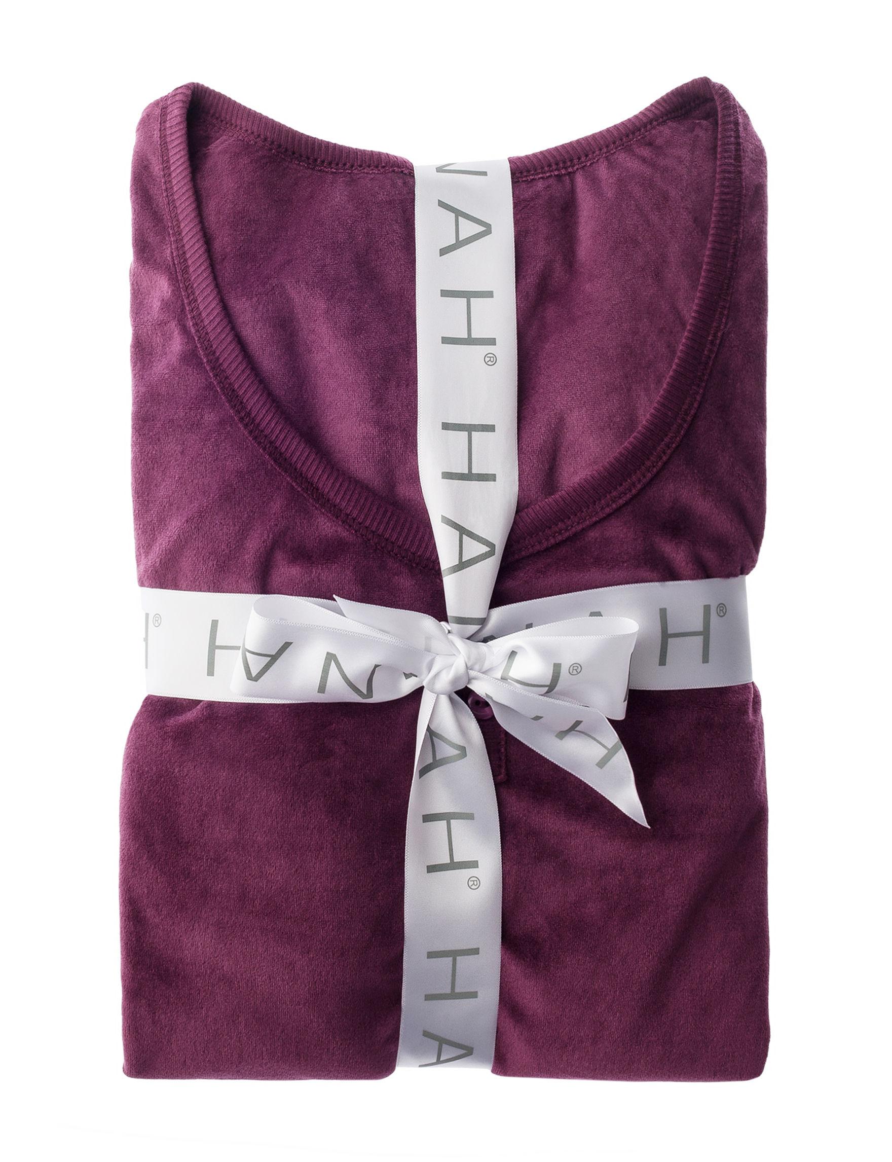 Hannah Wine Pajama Sets