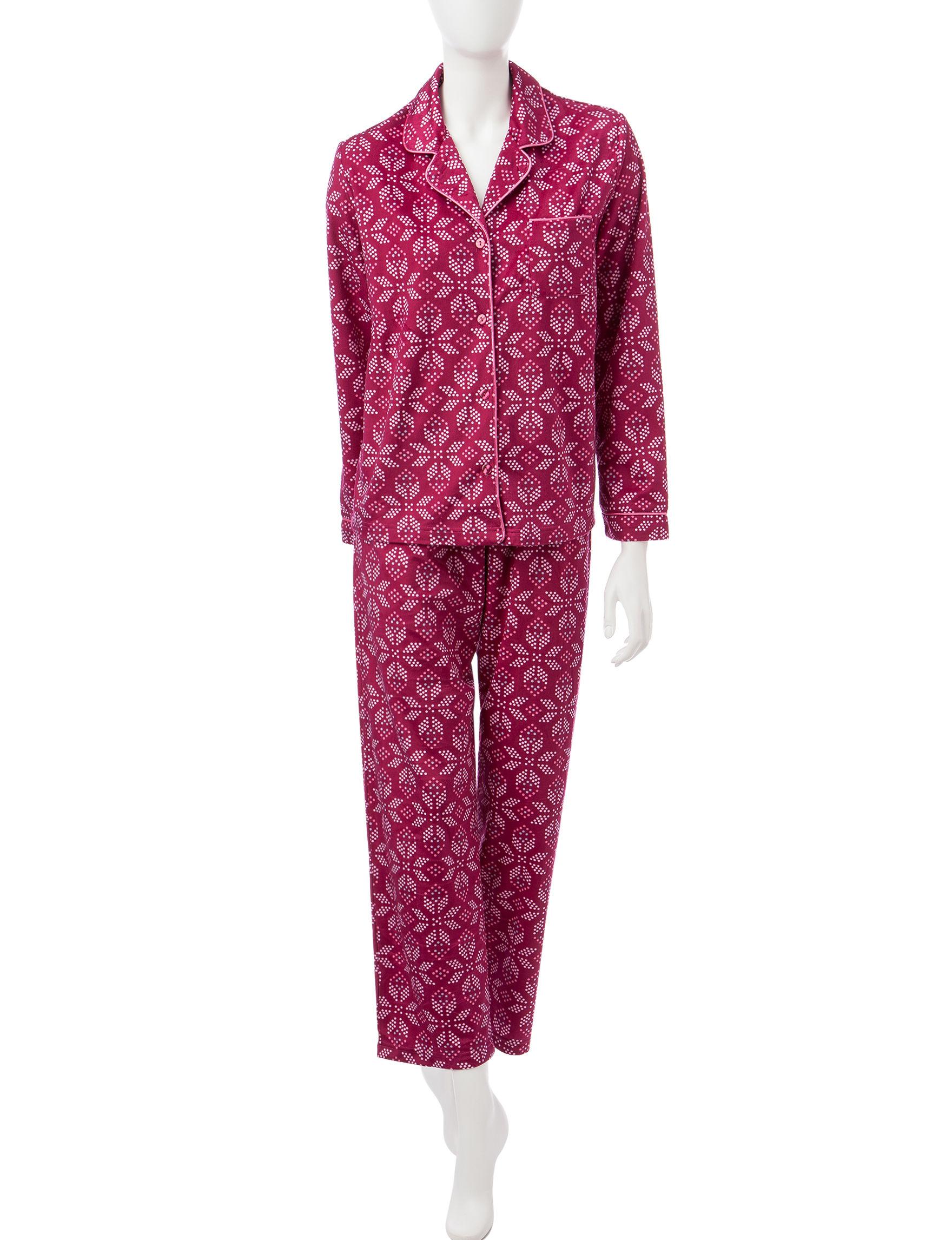 Hannah Burgundy Pajama Sets
