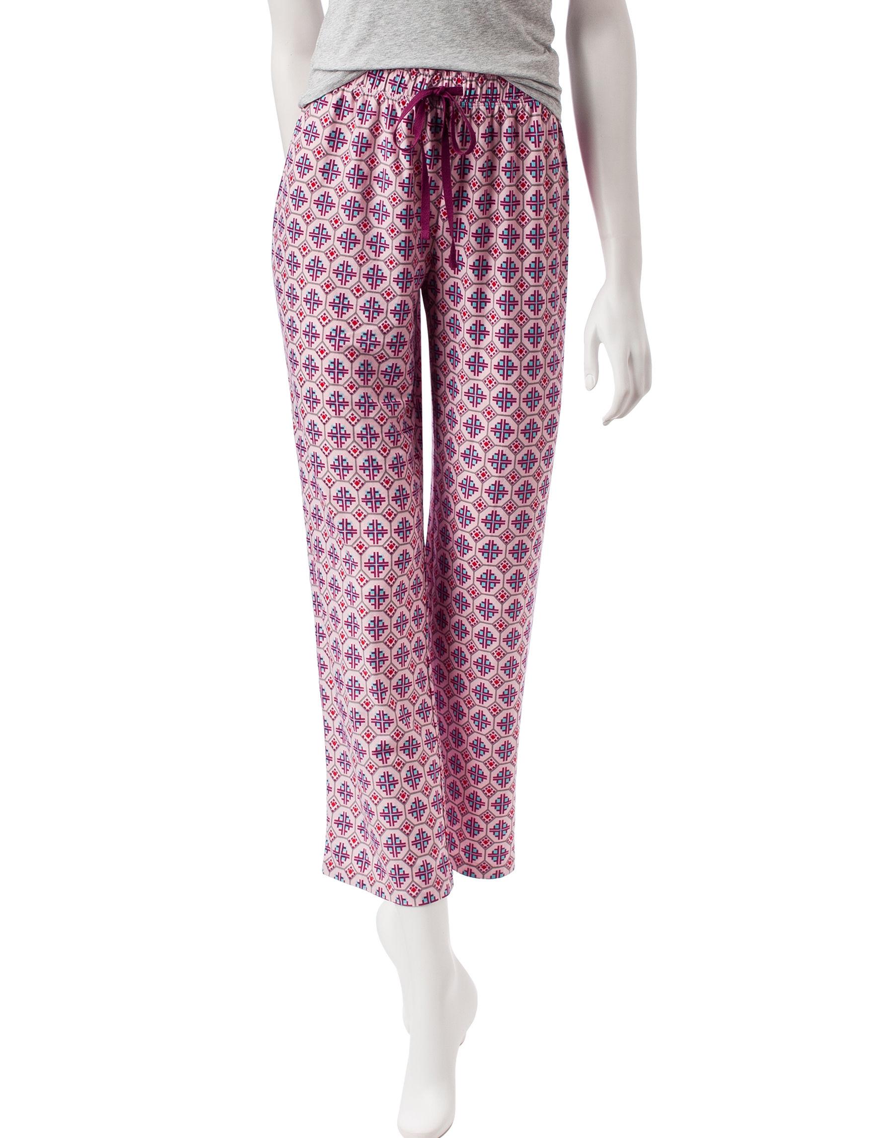 Hannah Red Pajama Bottoms