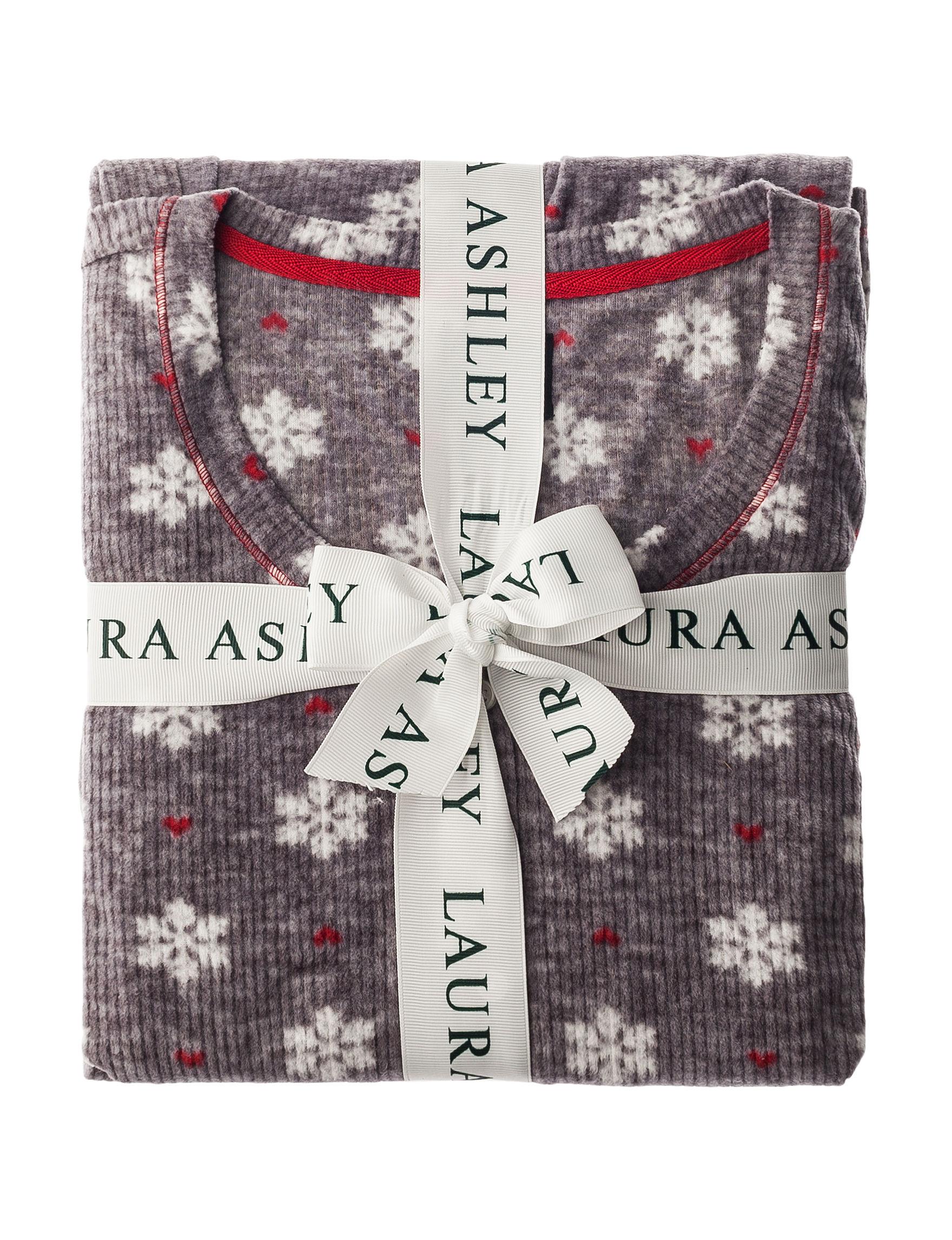 Laura Ashley Grey Pajama Sets