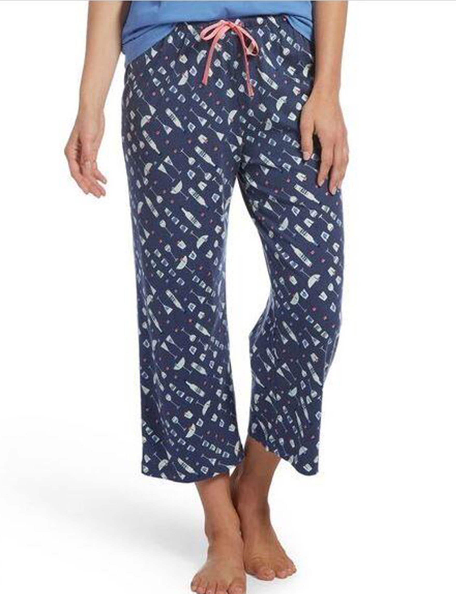 Hue Navy Pajama Bottoms