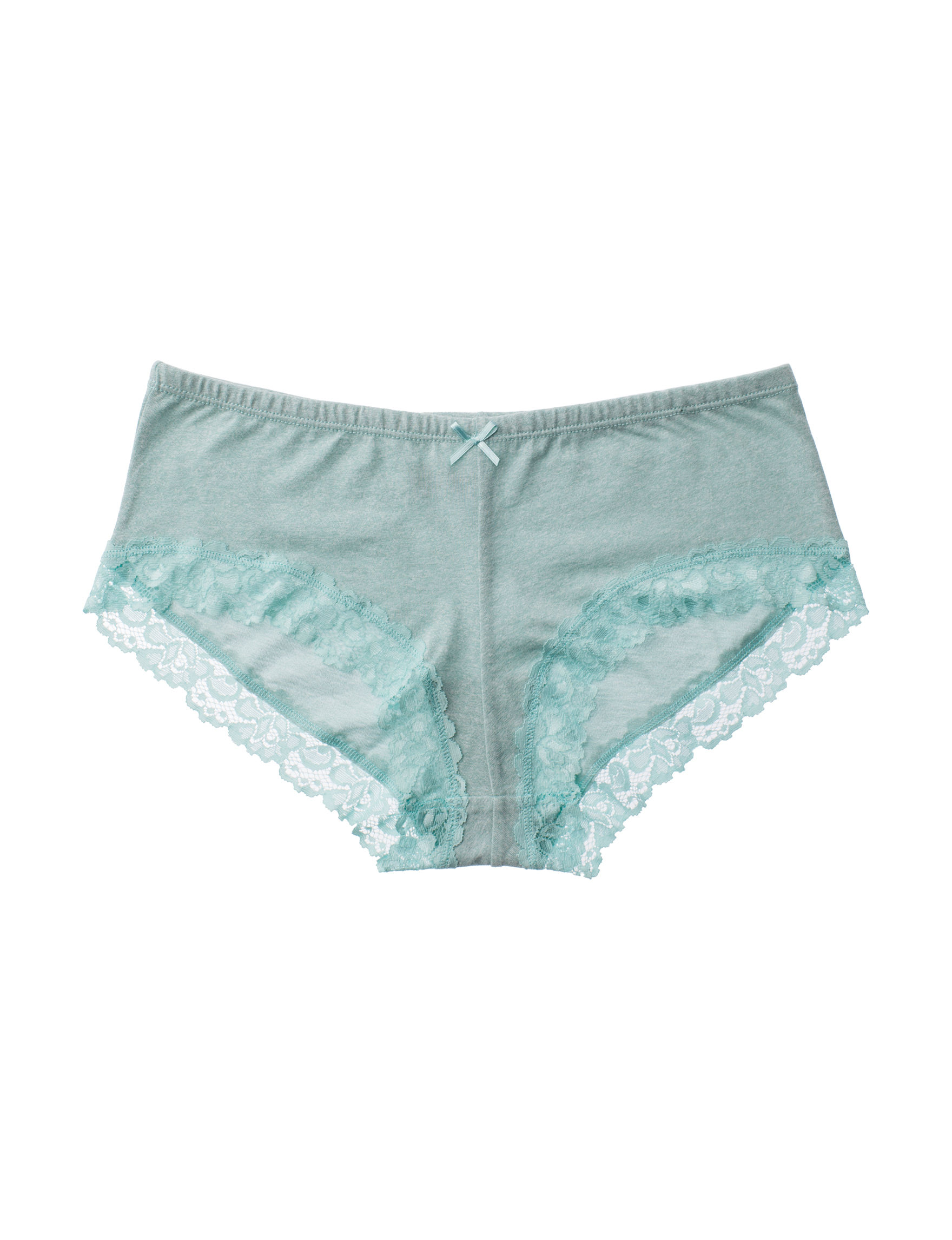 International Intimates Grey / Teal Panties Boyshort