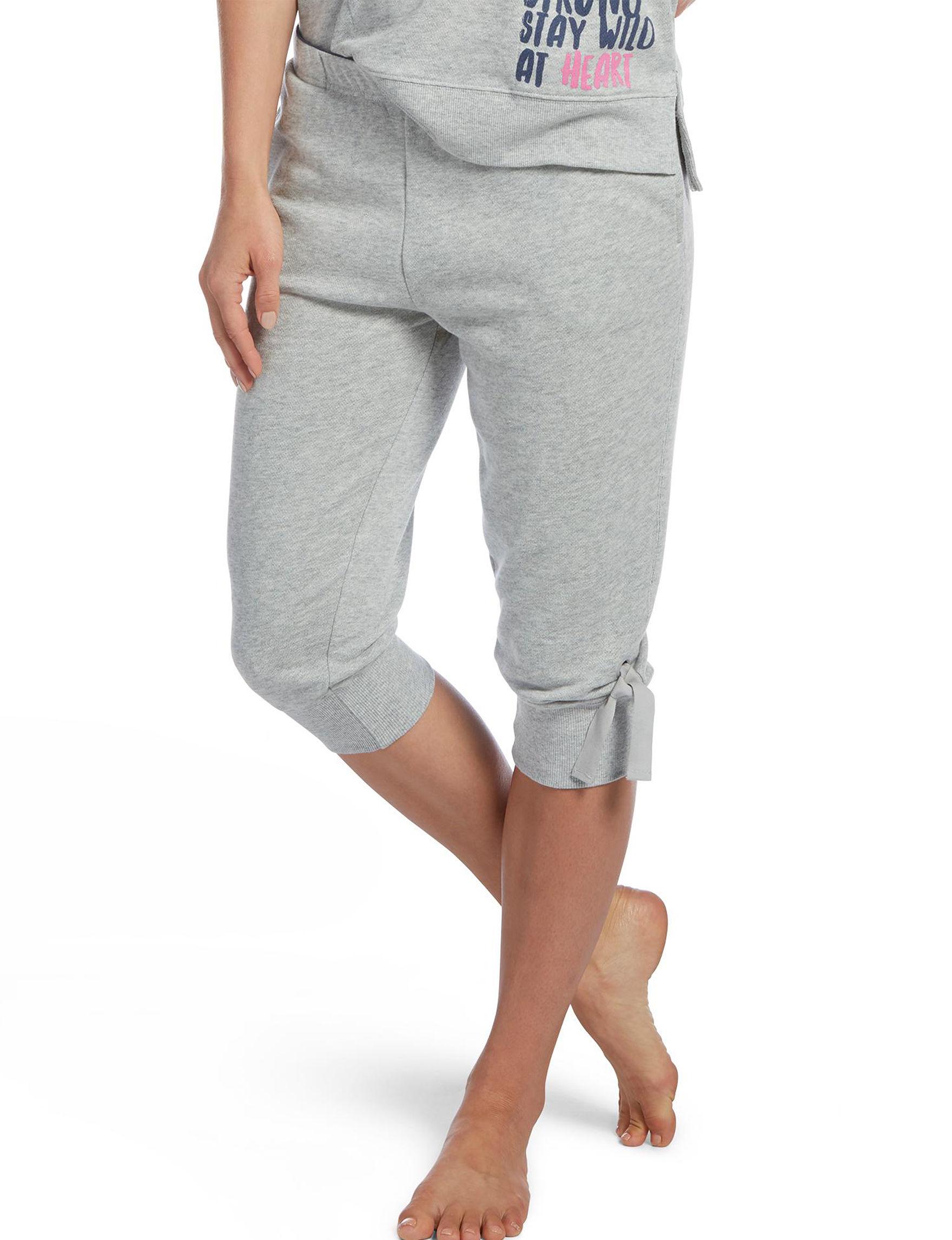 Hue Grey Pajama Bottoms