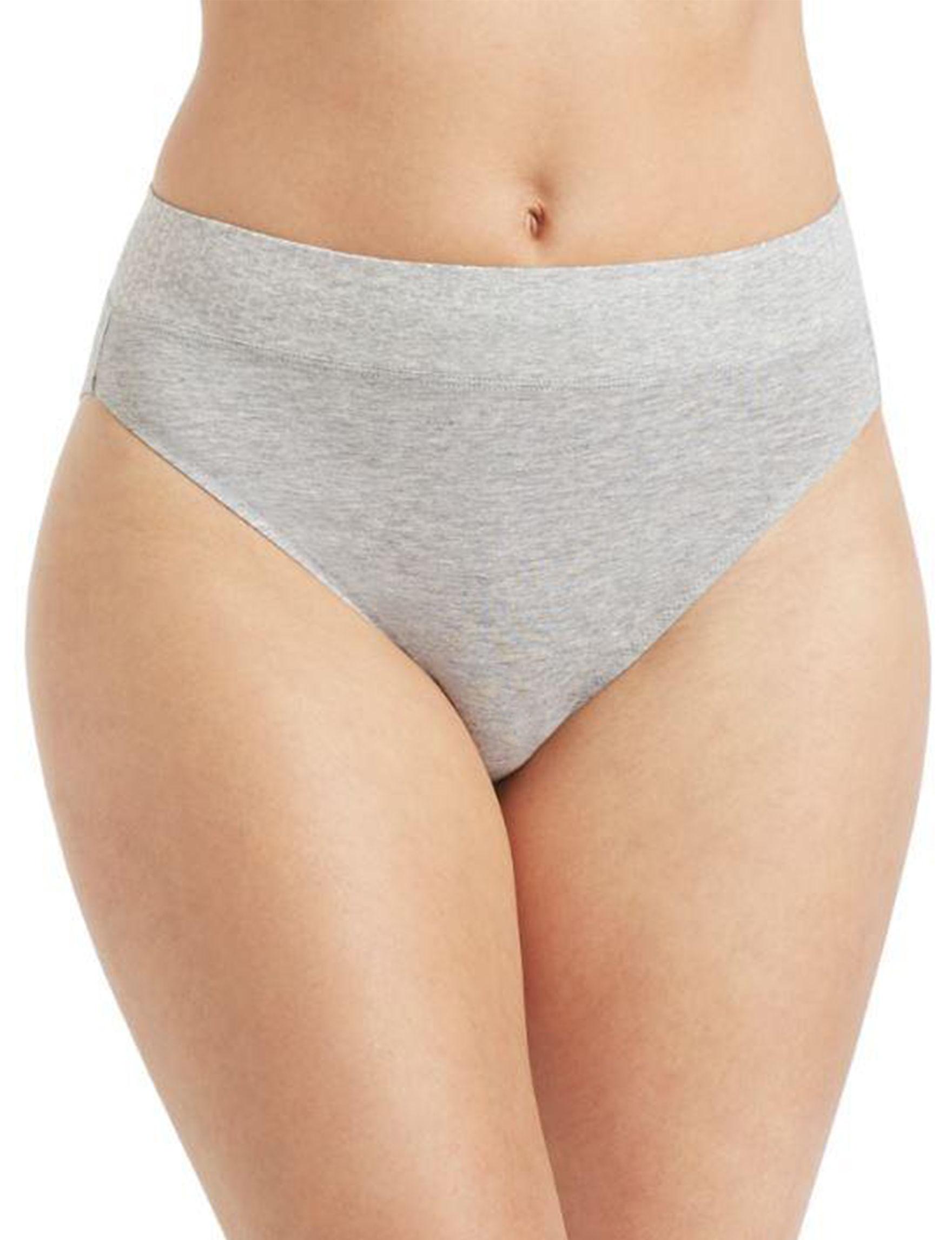 Ellen Tracy Heather Grey Panties High Cut
