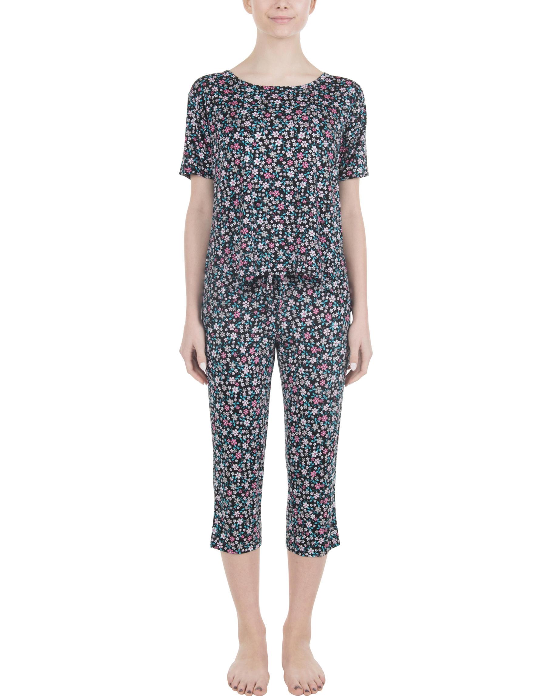 Lissome Blue Multi Pajama Tops