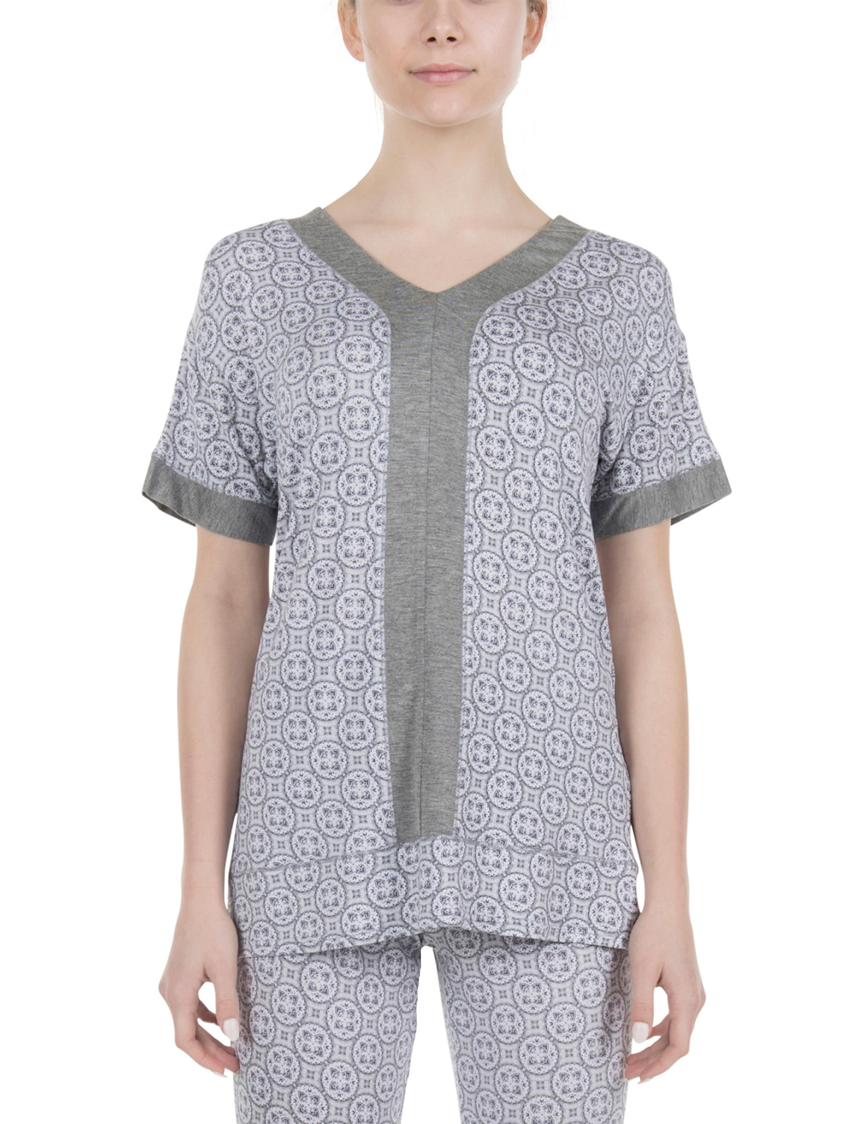 Lissome White / Grey Pajama Tops