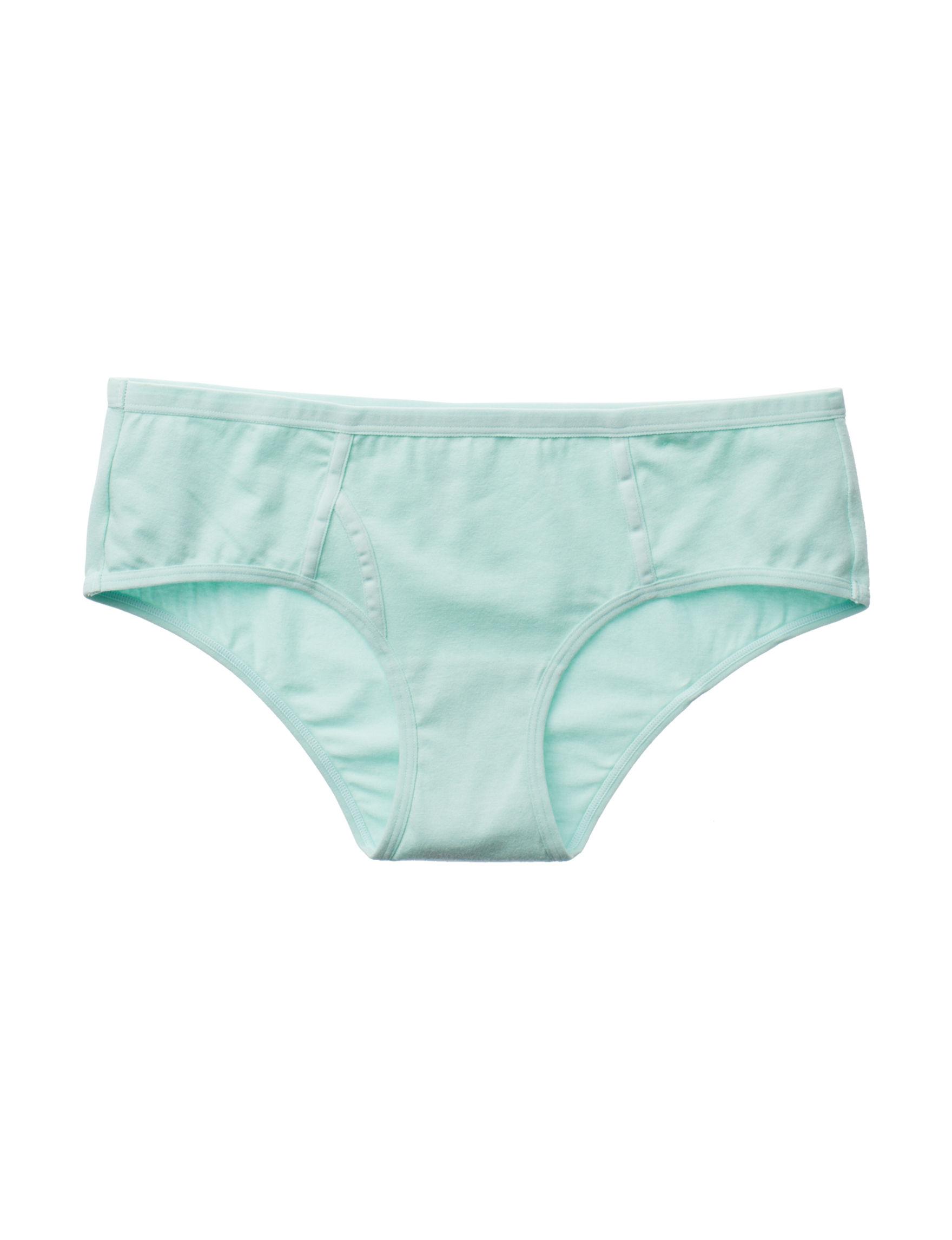 B Intimates Aqua Panties Boyshort Briefs
