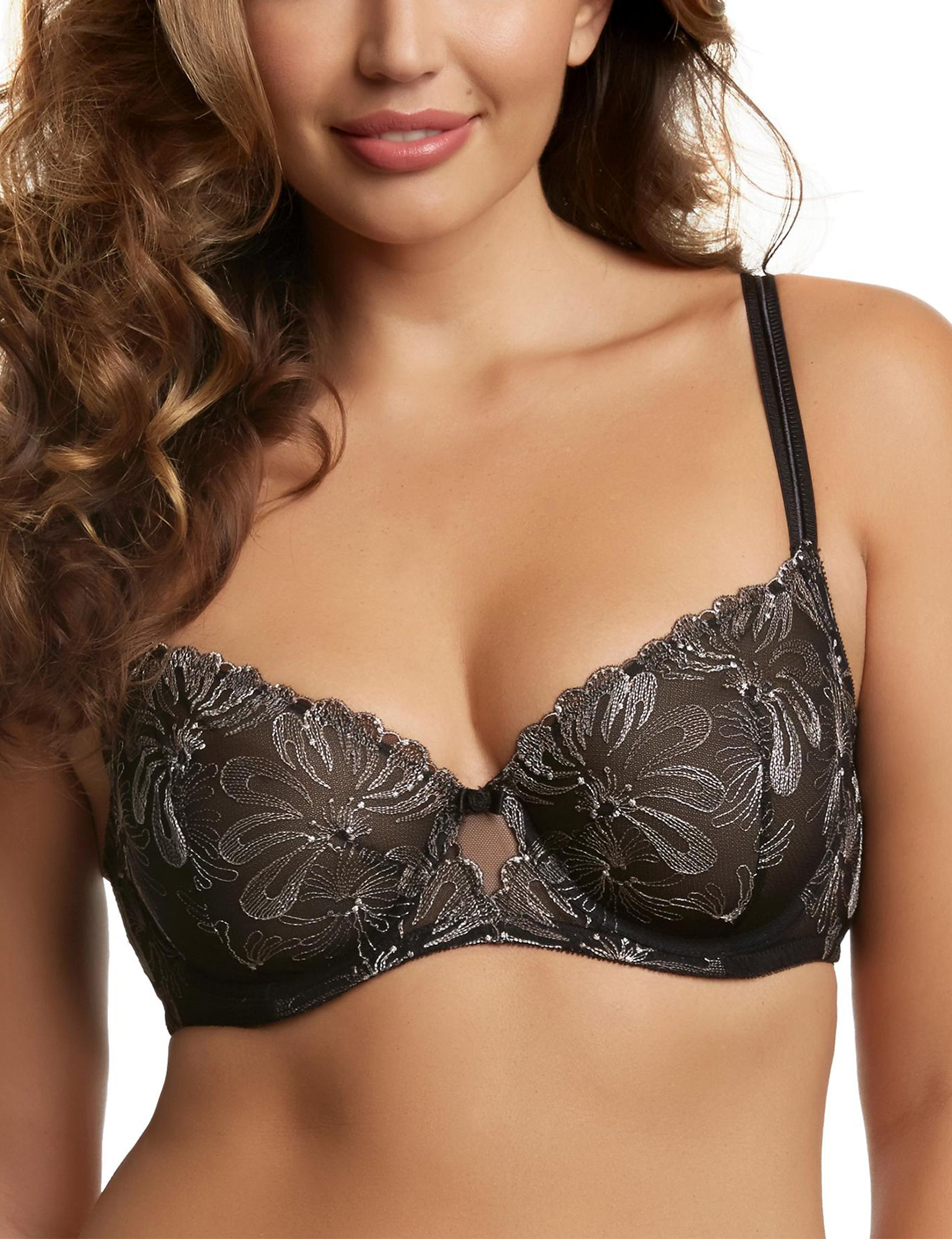 Paramour Black Bras Demi Unlined