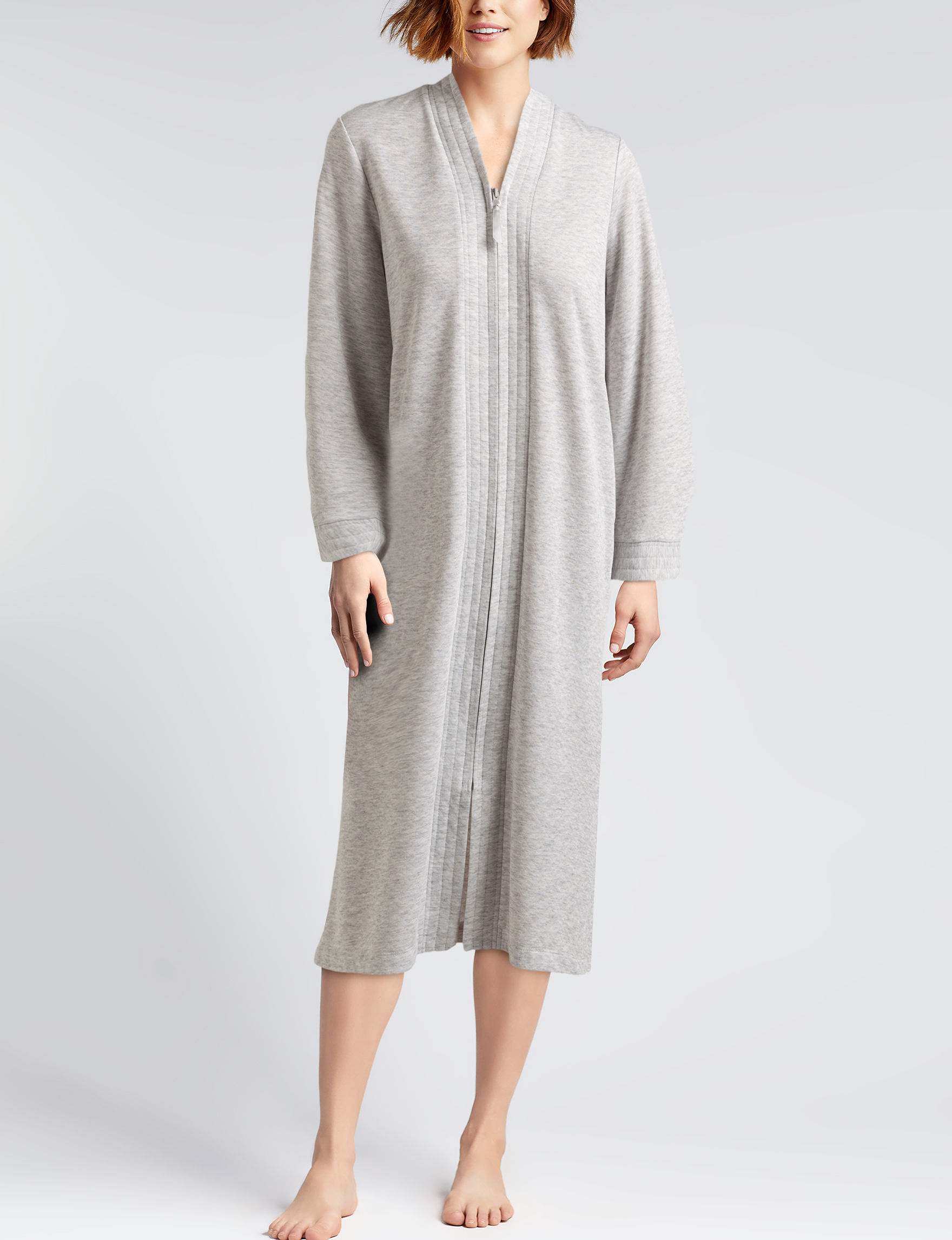 Lissome Grey Robes, Wraps & Dusters
