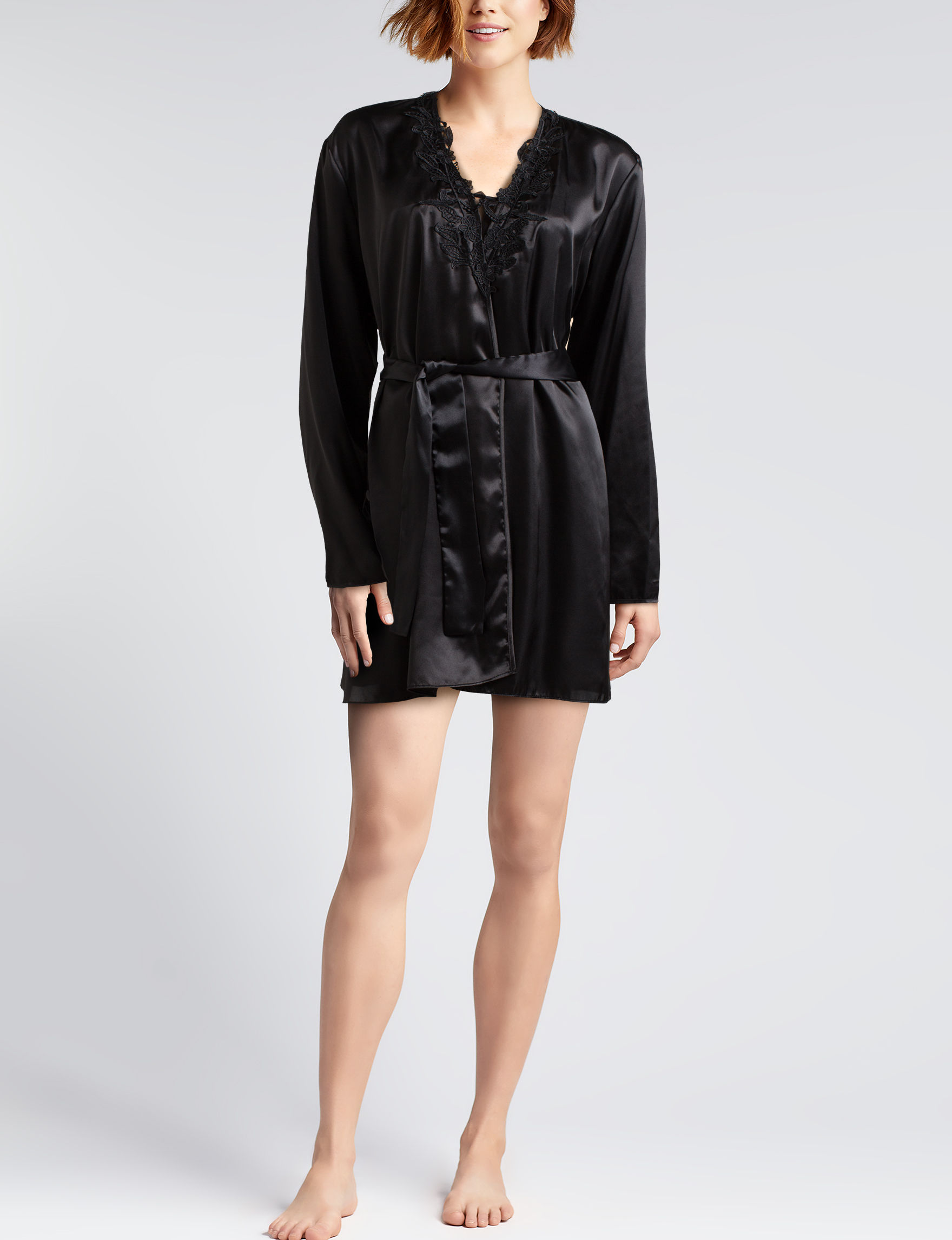 Flora Nikrooz Black Robes, Wraps & Dusters