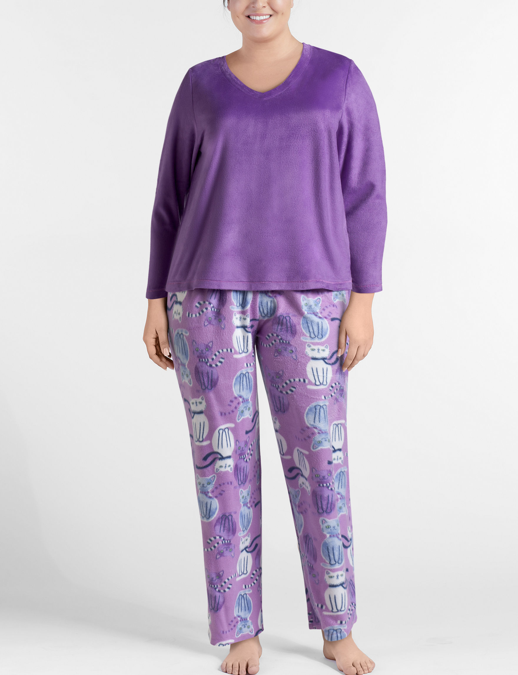 Hue Purple Pajama Sets