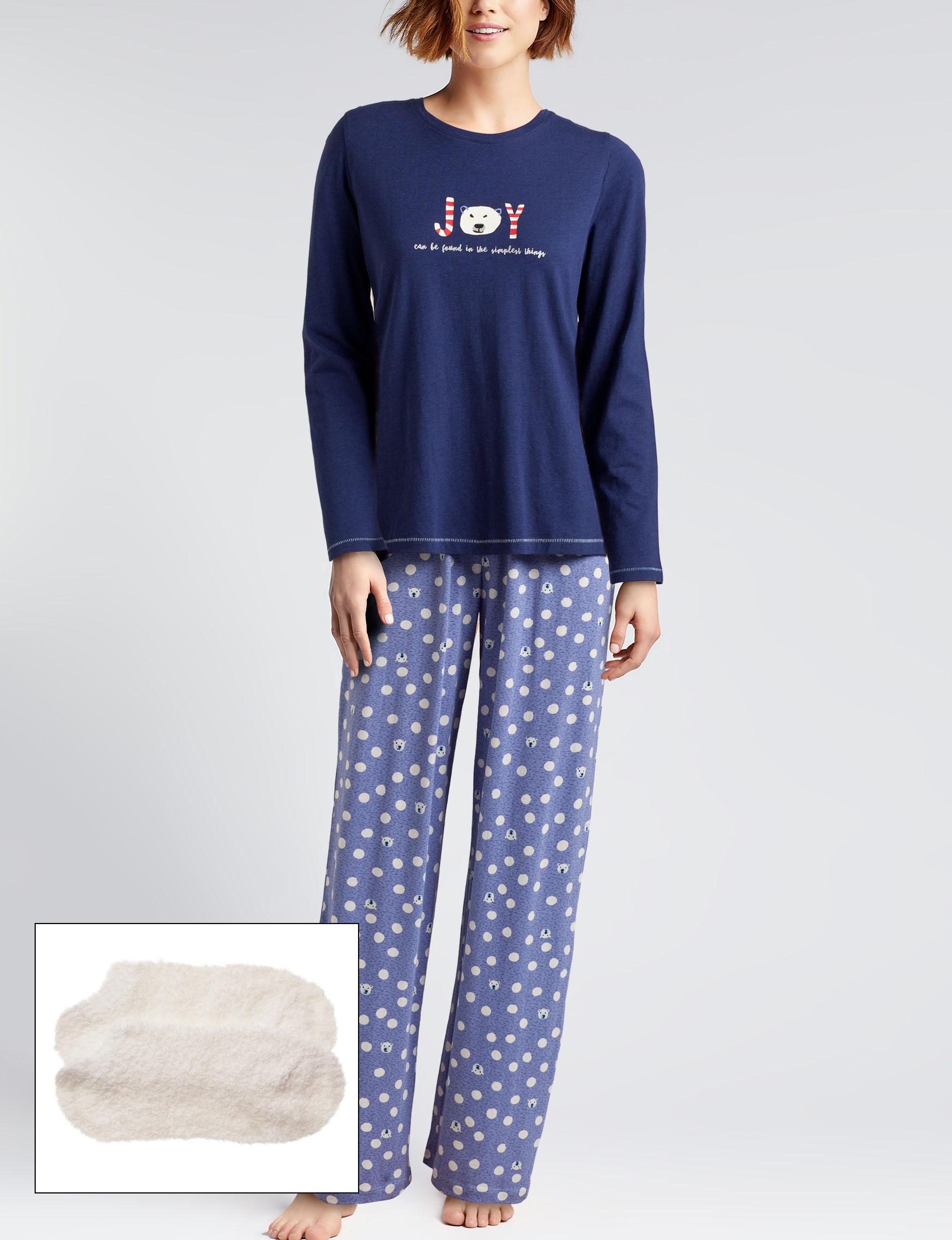 Hue Navy Pajama Sets