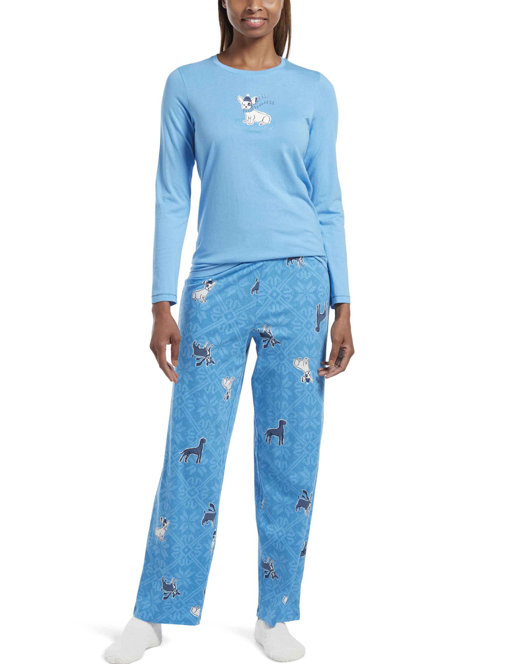 Hue Blue Pajama Sets