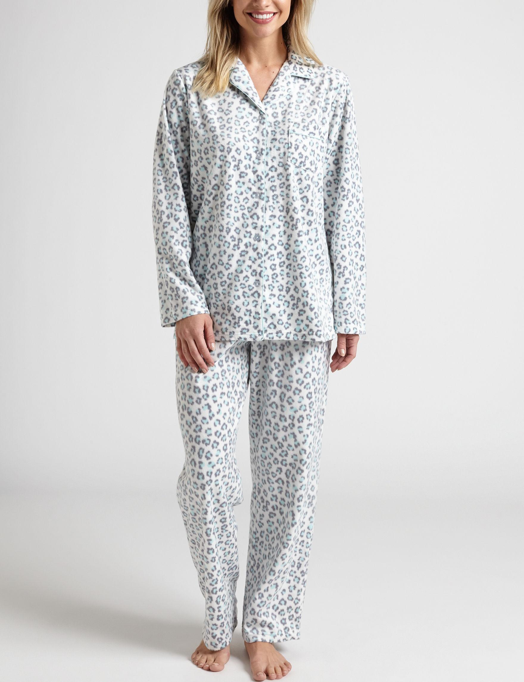 Hannah White Pajama Sets