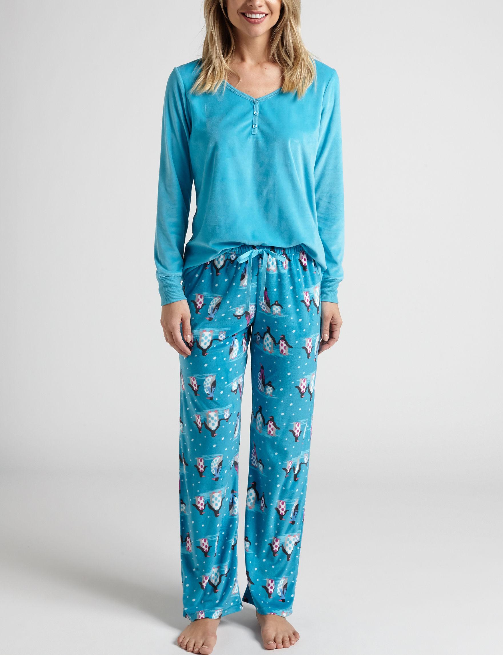 Hannah Turquoise Pajama Sets
