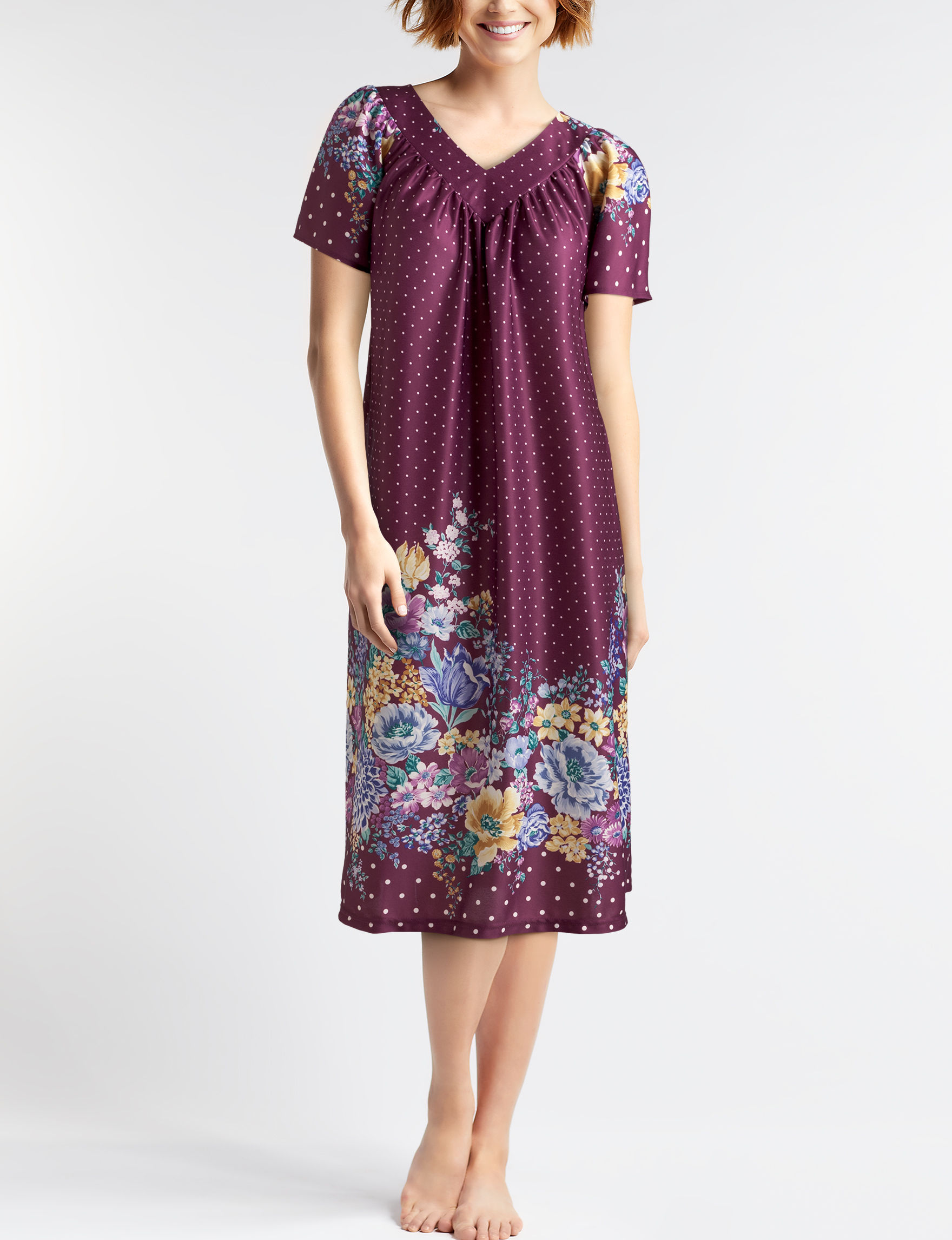 Lissome Plus-size Floral House Dress | Stage Stores