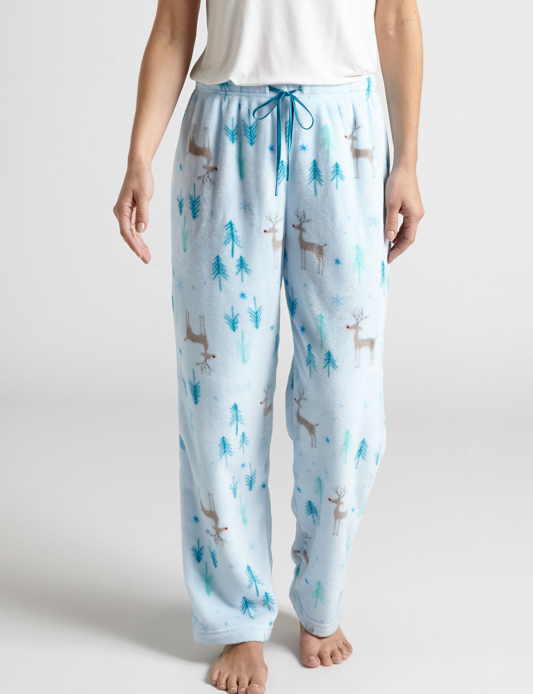 Hannah White Pajama Bottoms