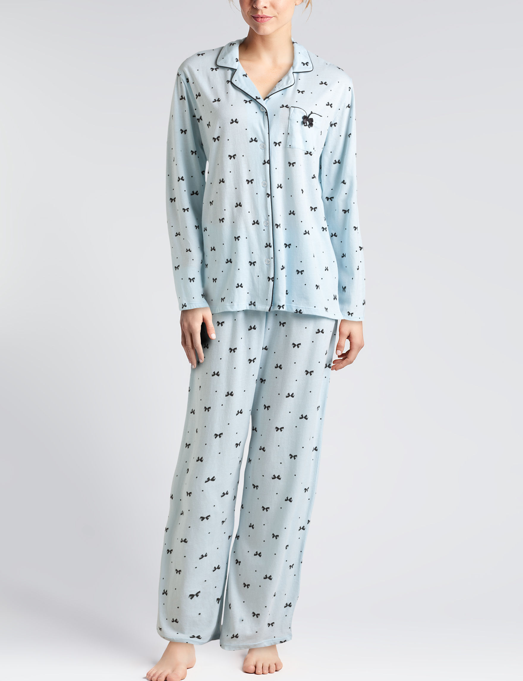 Laura Ashley Light Blue Pajama Sets