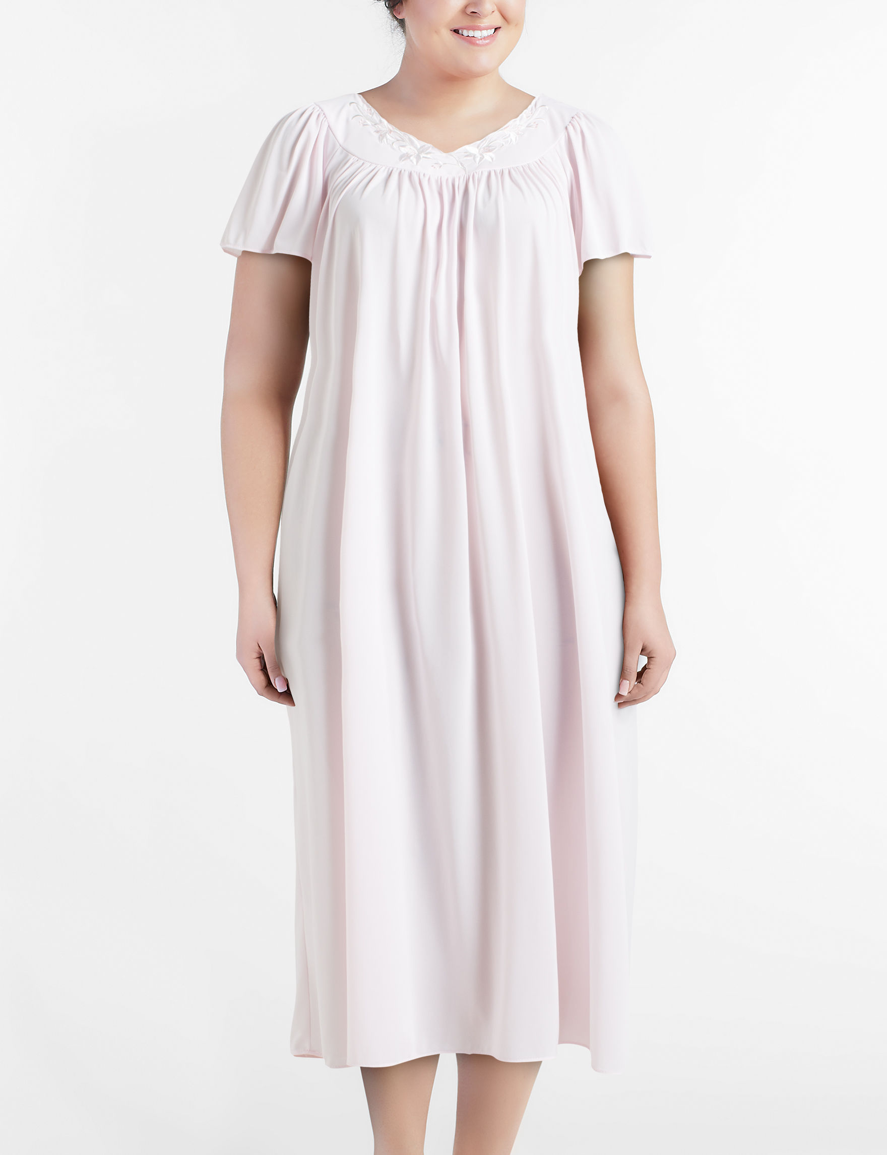 Miss Elaine Plus-size Tricot Sleep Gown   Stage Stores