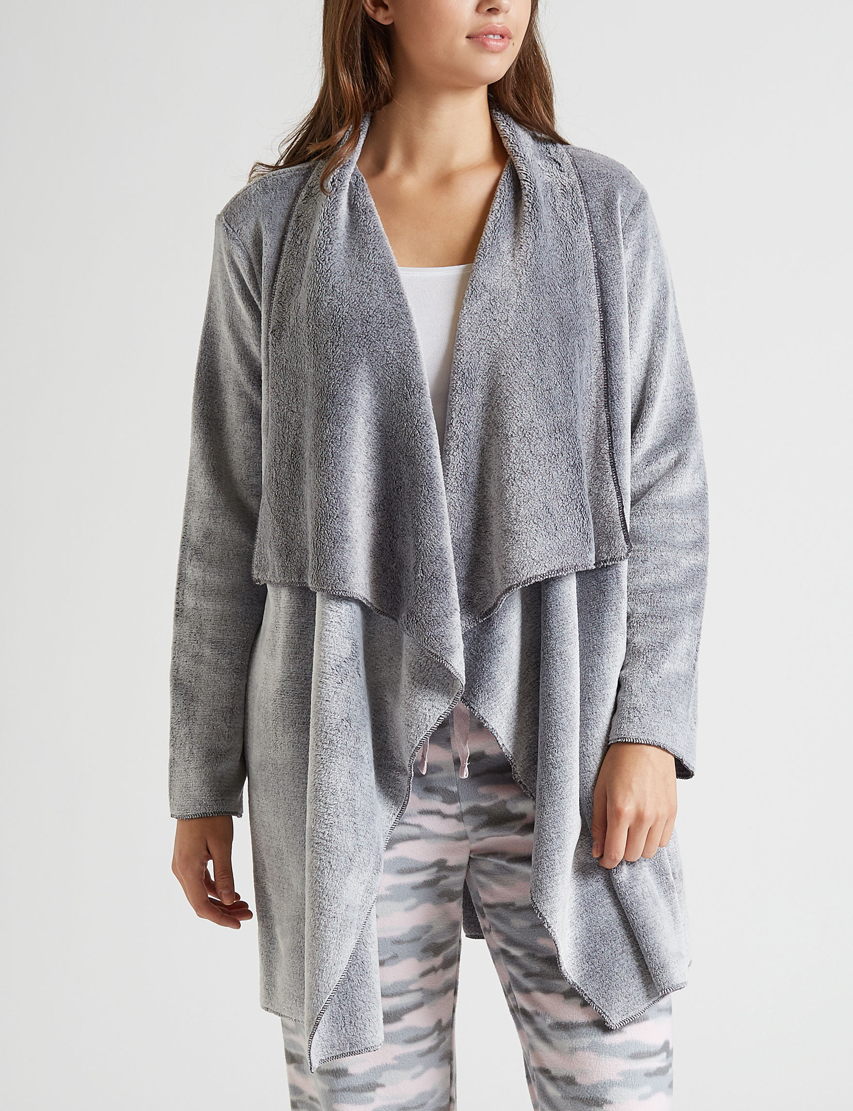 Hannah Grey / White Robes, Wraps & Dusters
