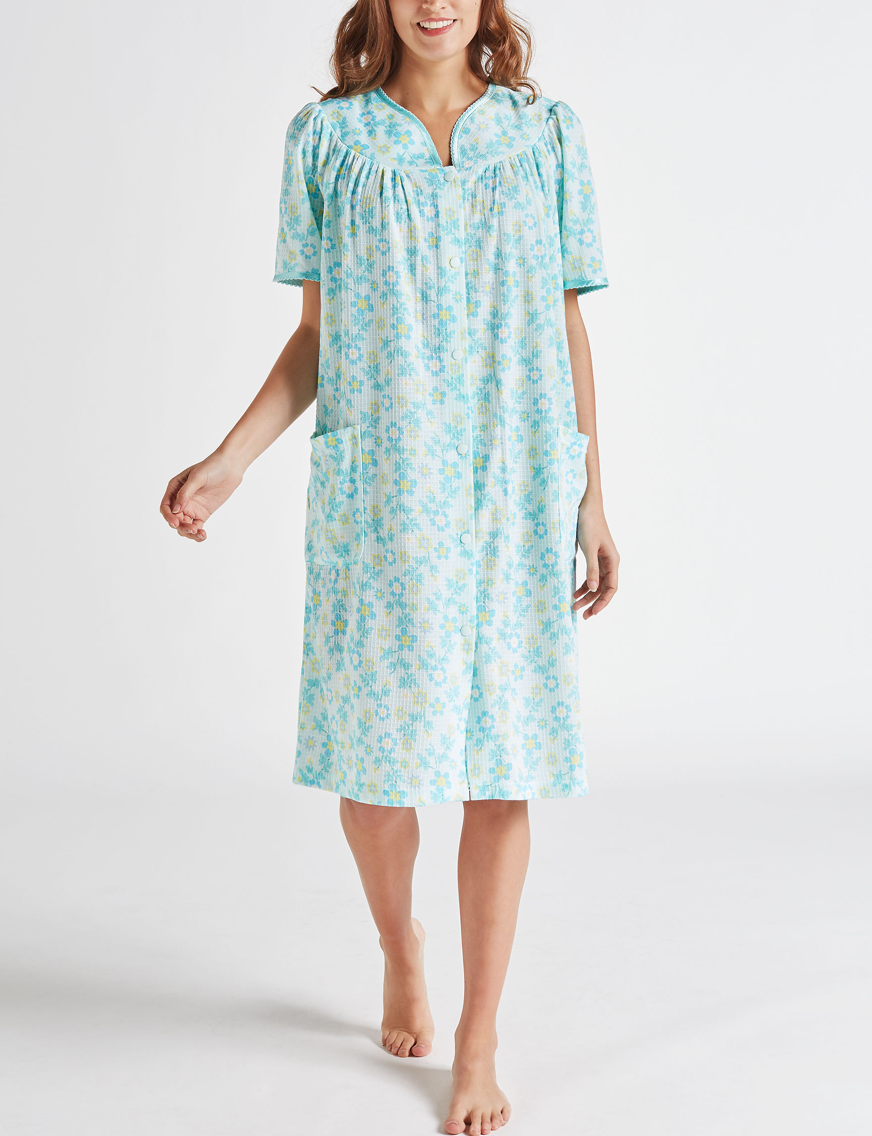 Jasmine Rose Light Blue Robes, Wraps & Dusters